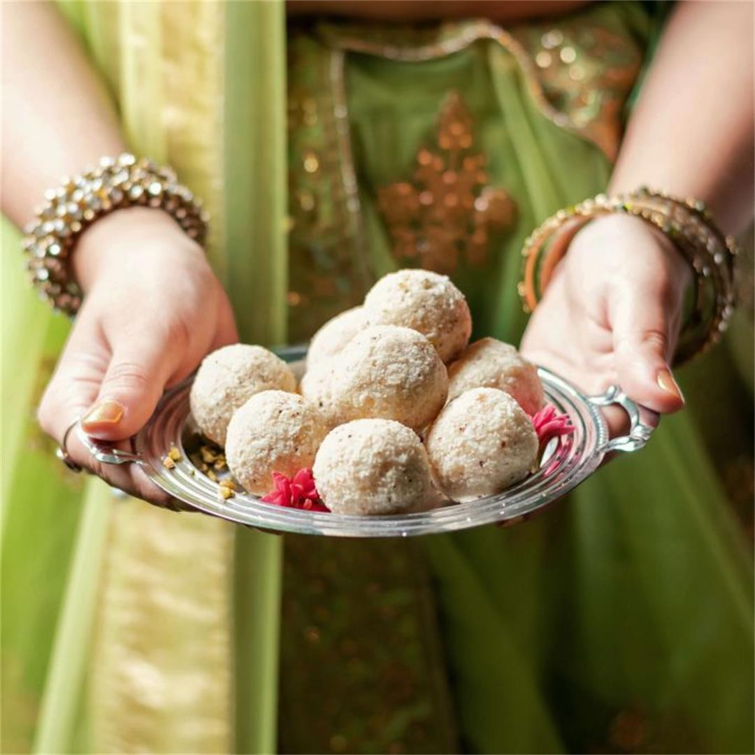 Coconut Ladoo Recipe (2 ingredients!)