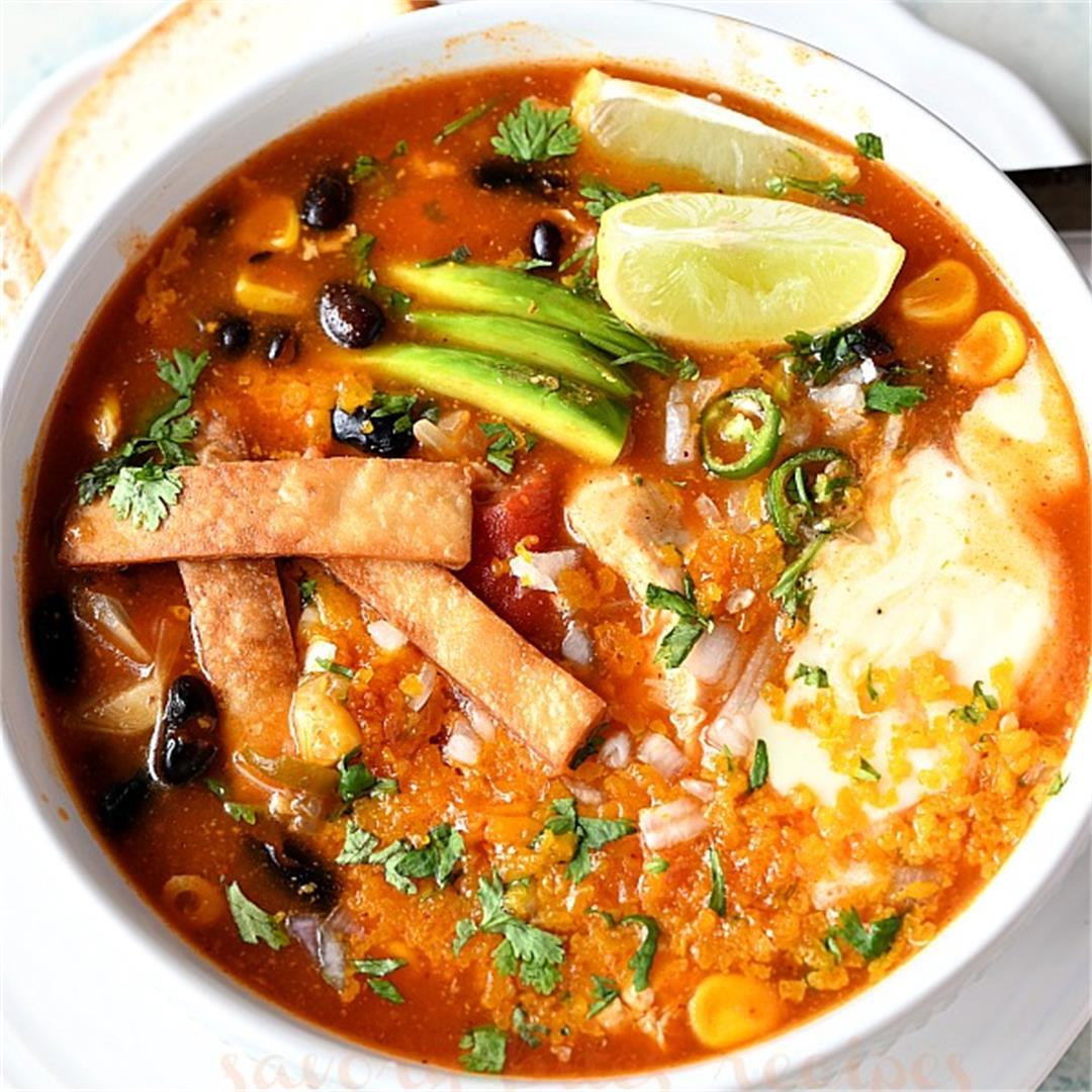 The 30-minute Chicken Enchilada Soup