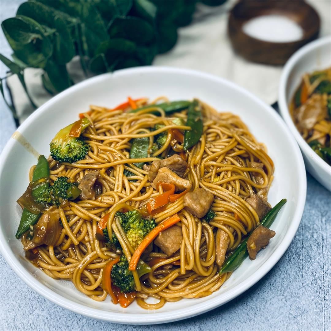 Quick Pork Lo Mein