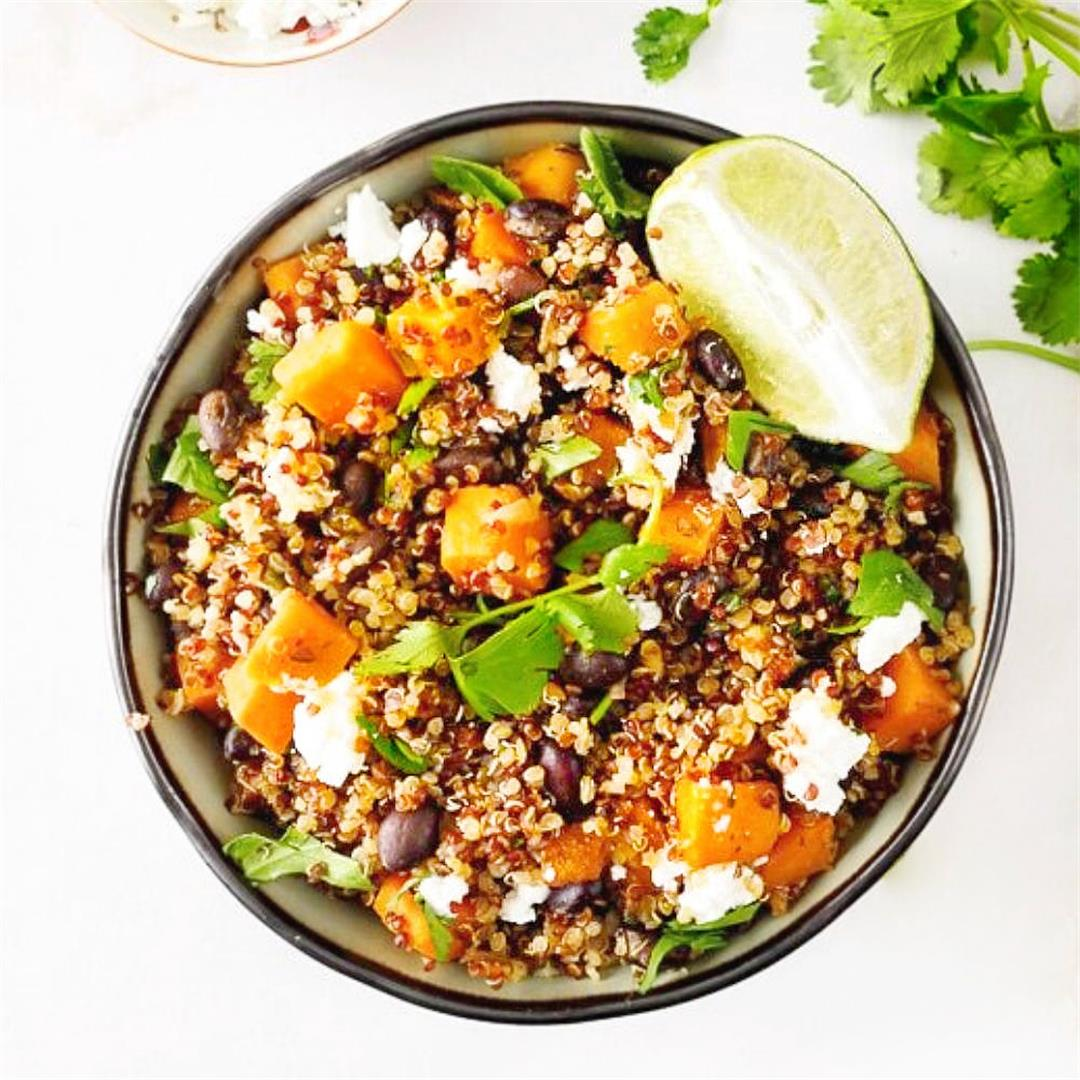 Sweet Potato and Black Bean Quinoa