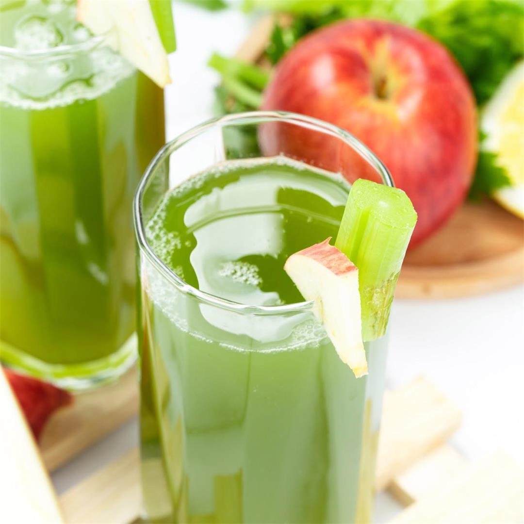 Healthy Apple Celery Juice Recipe