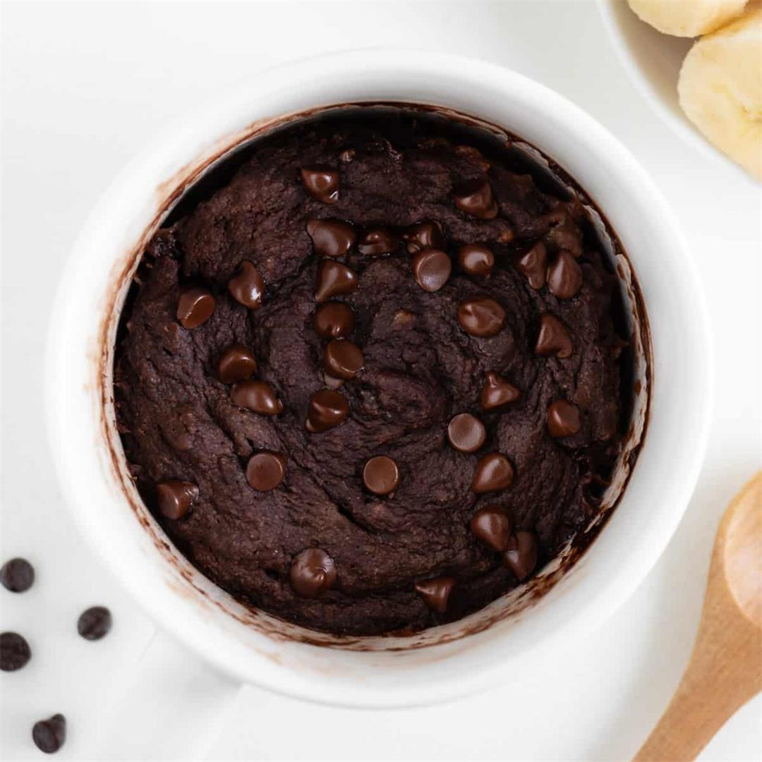 Chocolate Mug Cake (Vegan, Gluten-Free)