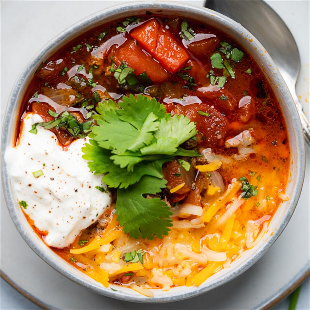Low Carb Keto Spicy Turkey Chili