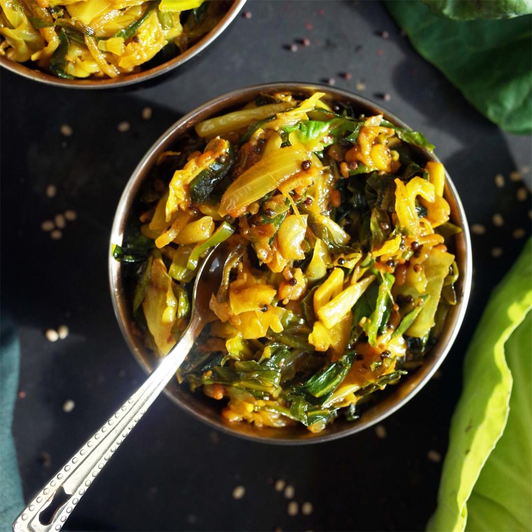 Indian Spiced Cabbage & Spring Greens Curry