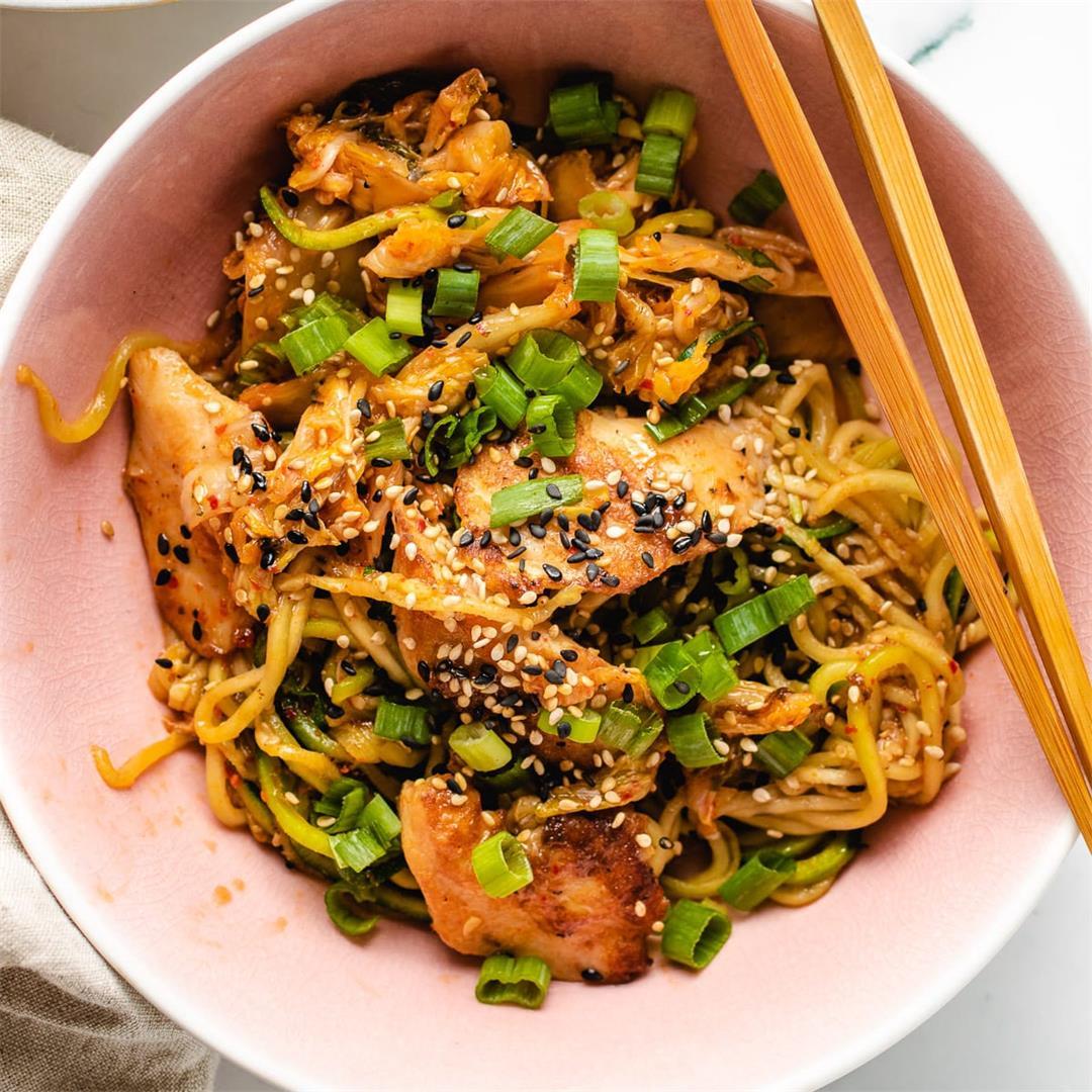 Kimchi Chicken & Noodles