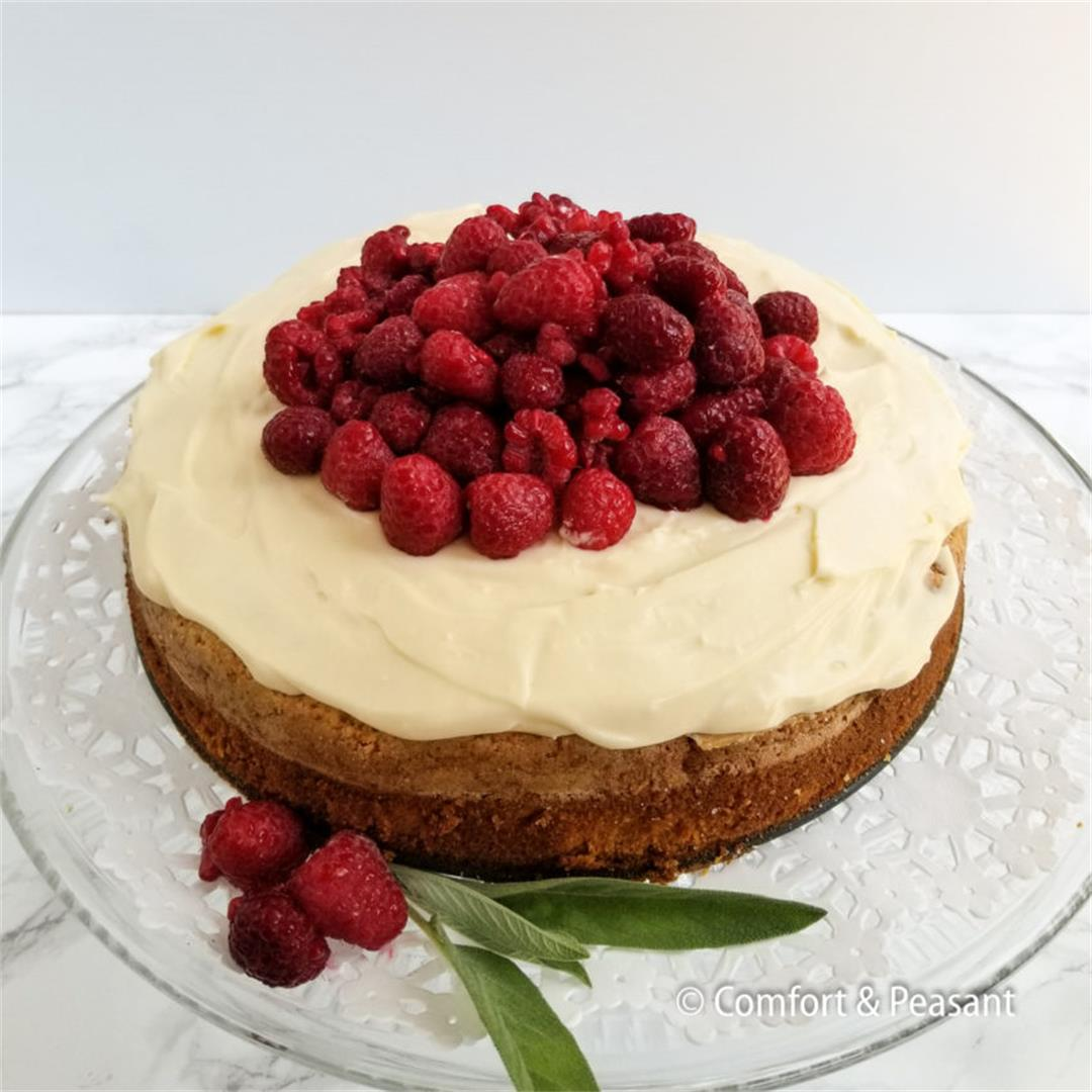 OLIVE OIL CAKE WITH LIMONCELLO MASCARPONE CREAM ~ Comfort & Pea