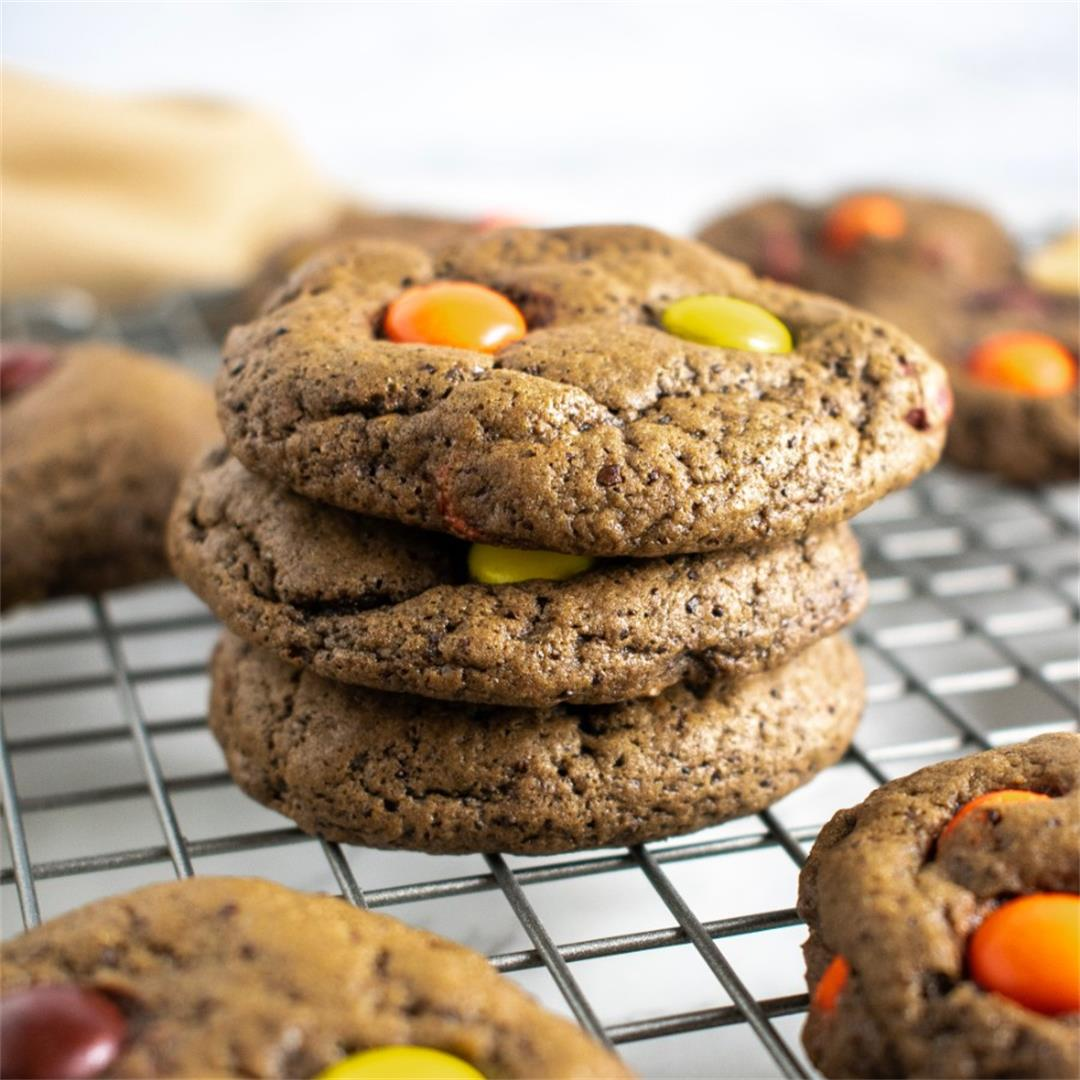 Mocha Reese's Pieces Cookies
