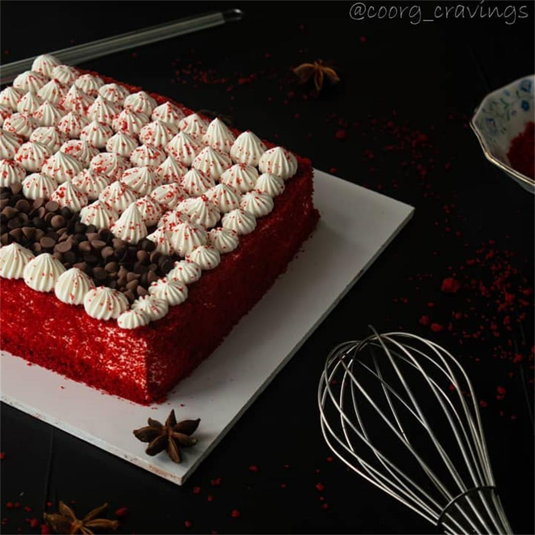 Gautam Kushalappa on Red Velvet Cake 🎂  A Red Velvet Cake is i