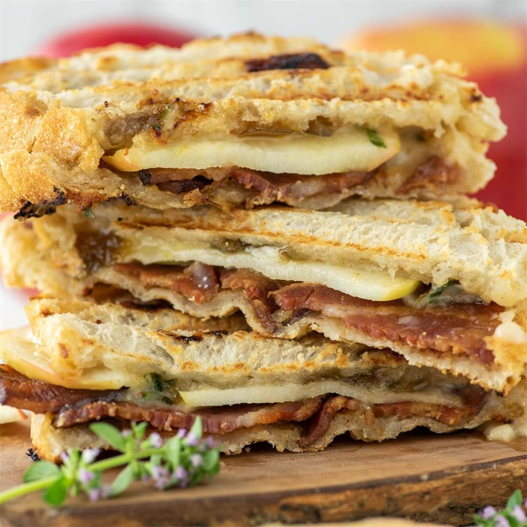 Apple, Cheddar and Bacon Panini