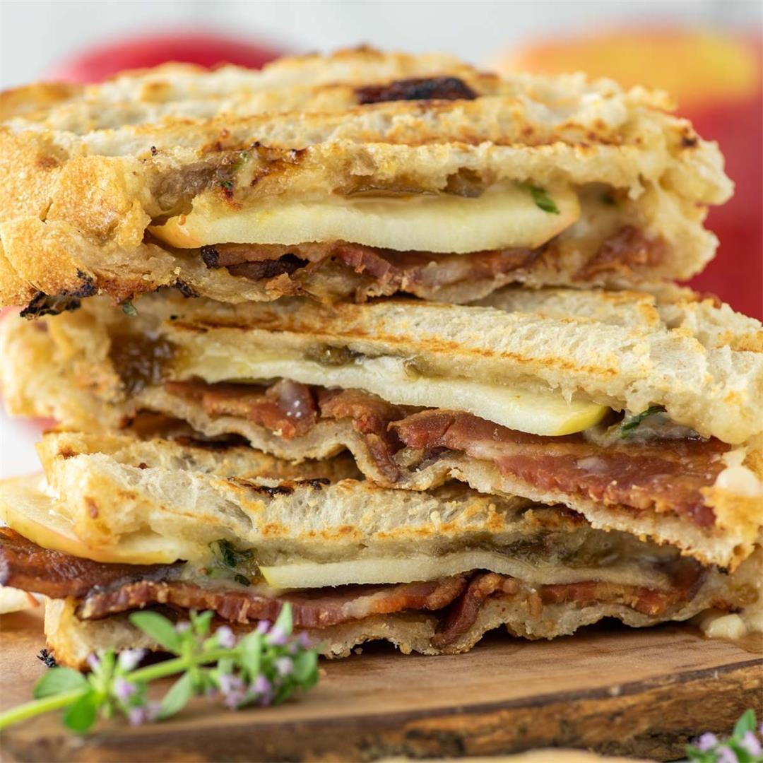 Apple, Cheddar and Bacon Panini