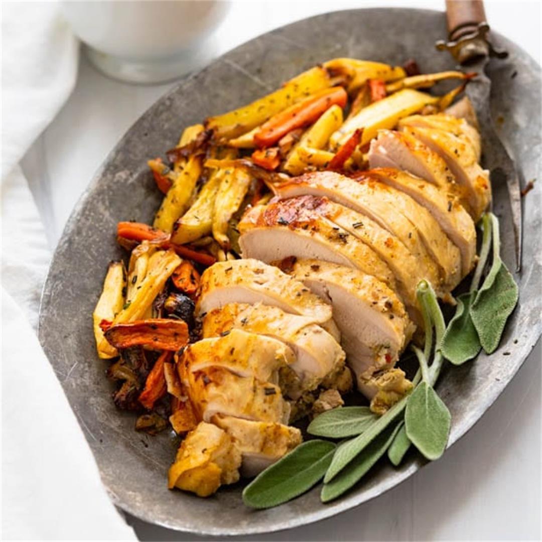 Easy Marinated Roast Turkey Breast for 4-6 people