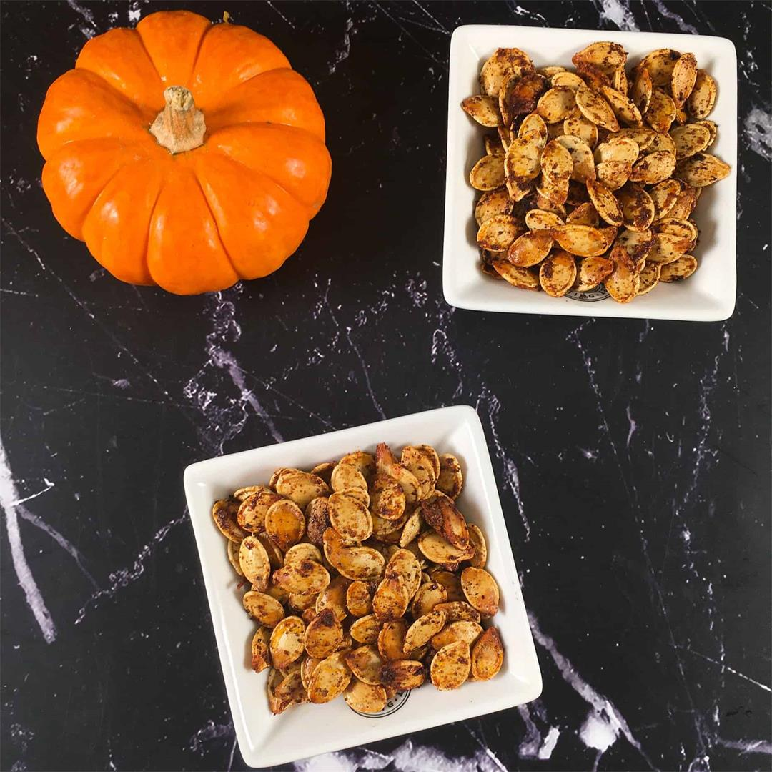 Keto Pumpkin Seeds | Sumac Roasted Pumpkin Seed Recipe