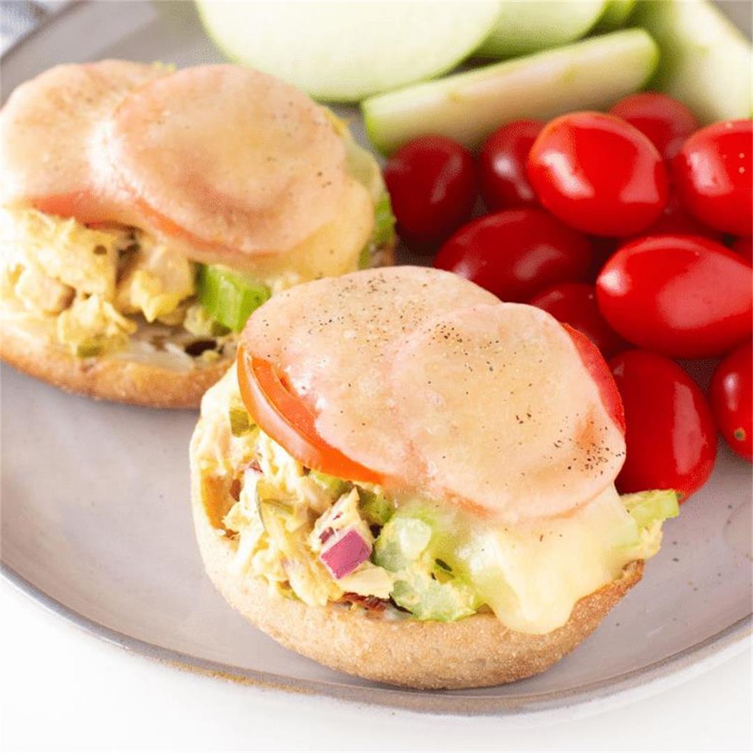 The BEST Tuna Melt on English Muffins