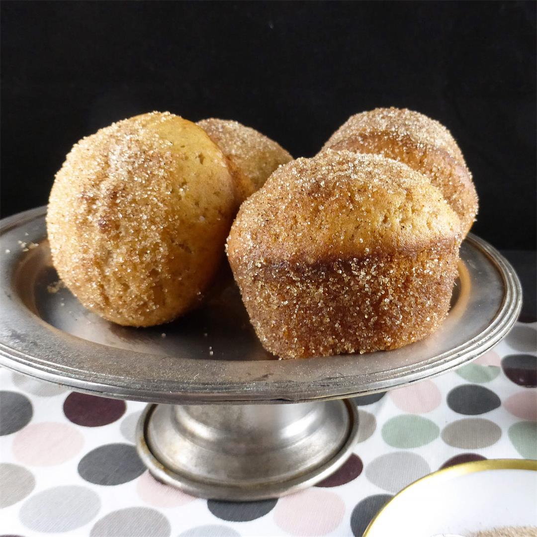 Spelt Doughnut Muffins with Raspberry Jam