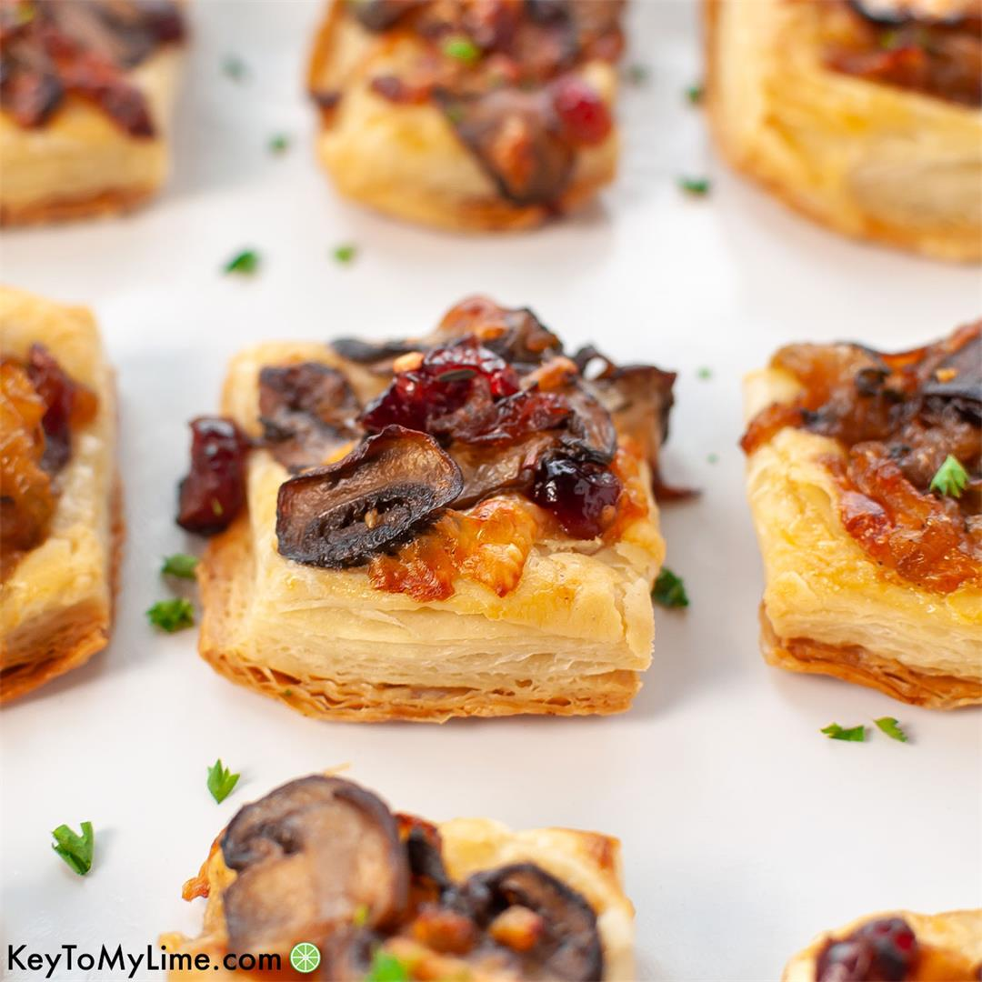 Mushroom Puff Pastry Bites - Easy Holiday Appetizer!