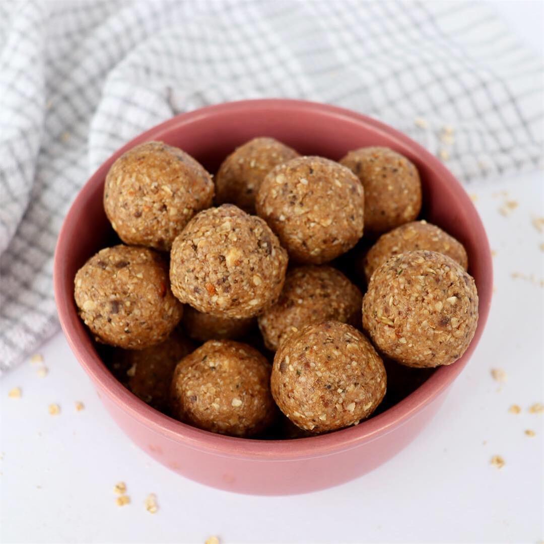 No Bake Cookie Dough Balls – Vegan & Gluten-Free