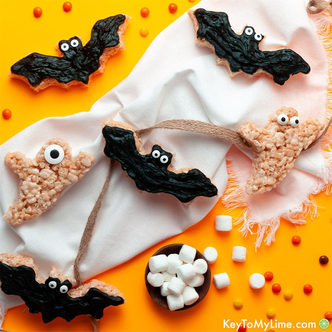 Halloween Rice Krispie Treats - Easy Halloween Dessert! - Key T