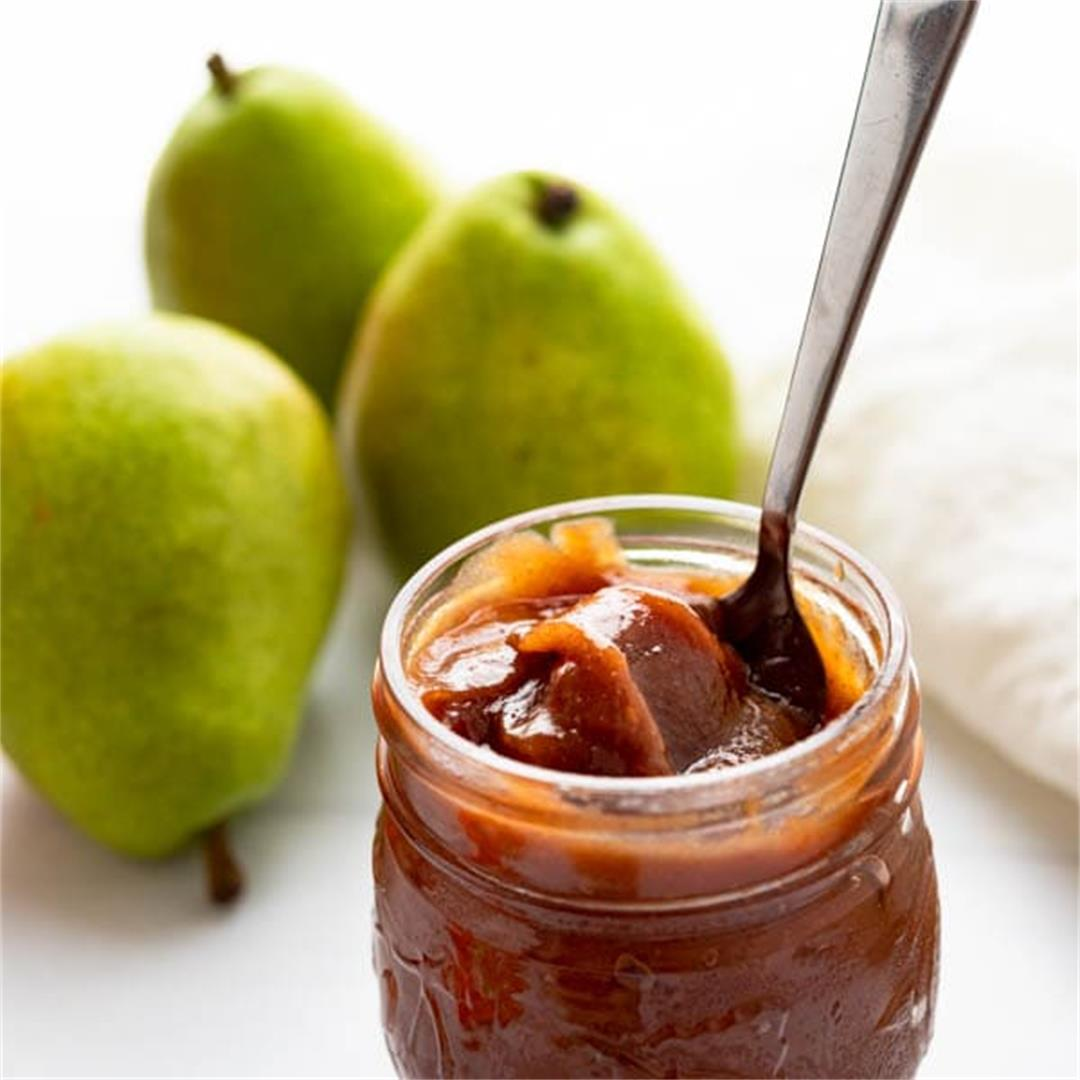 Good Morning Spiced Honey Pear Butter (Refined Sugar Free)