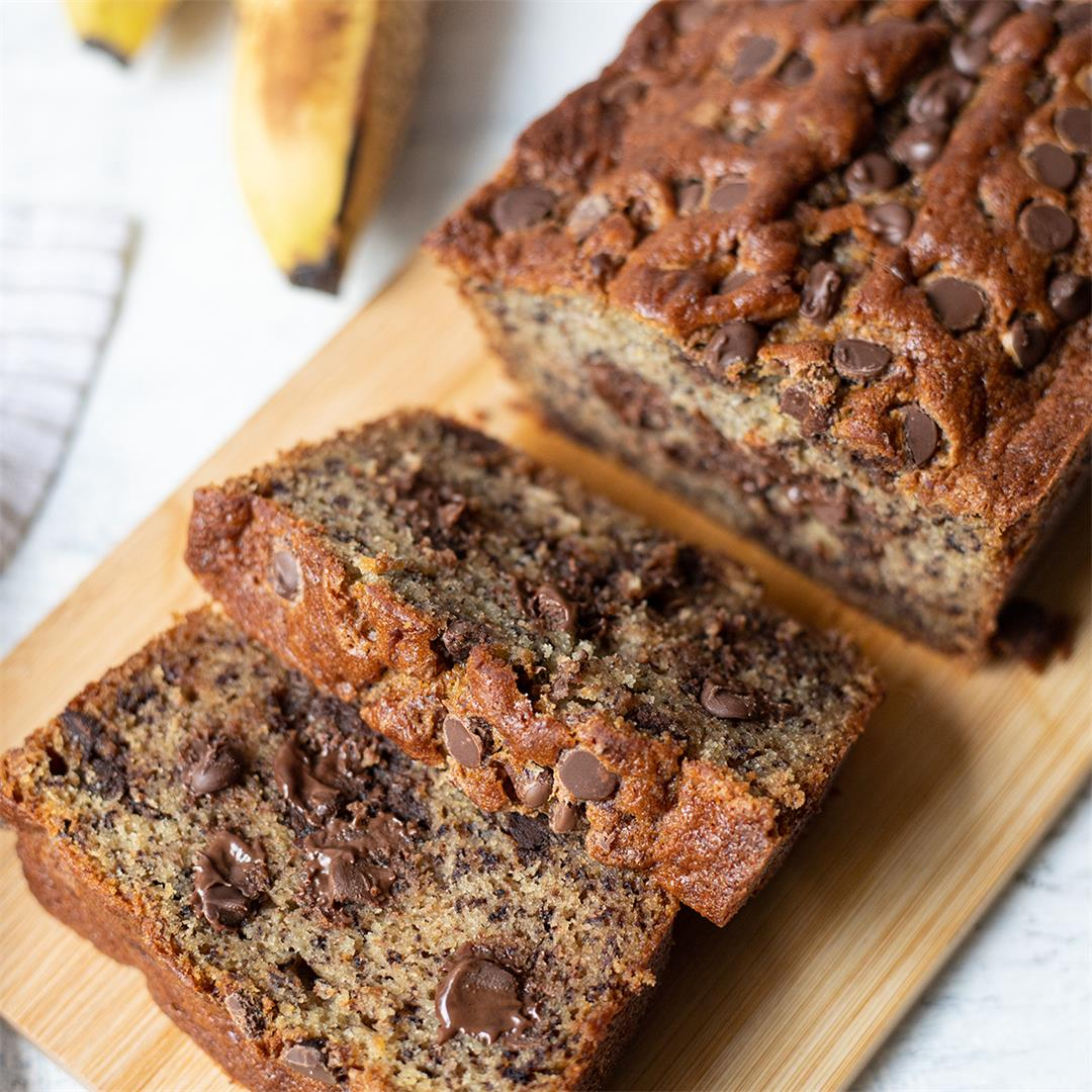 Chocolate Chips Banana Bread-Healthy Life Trainer