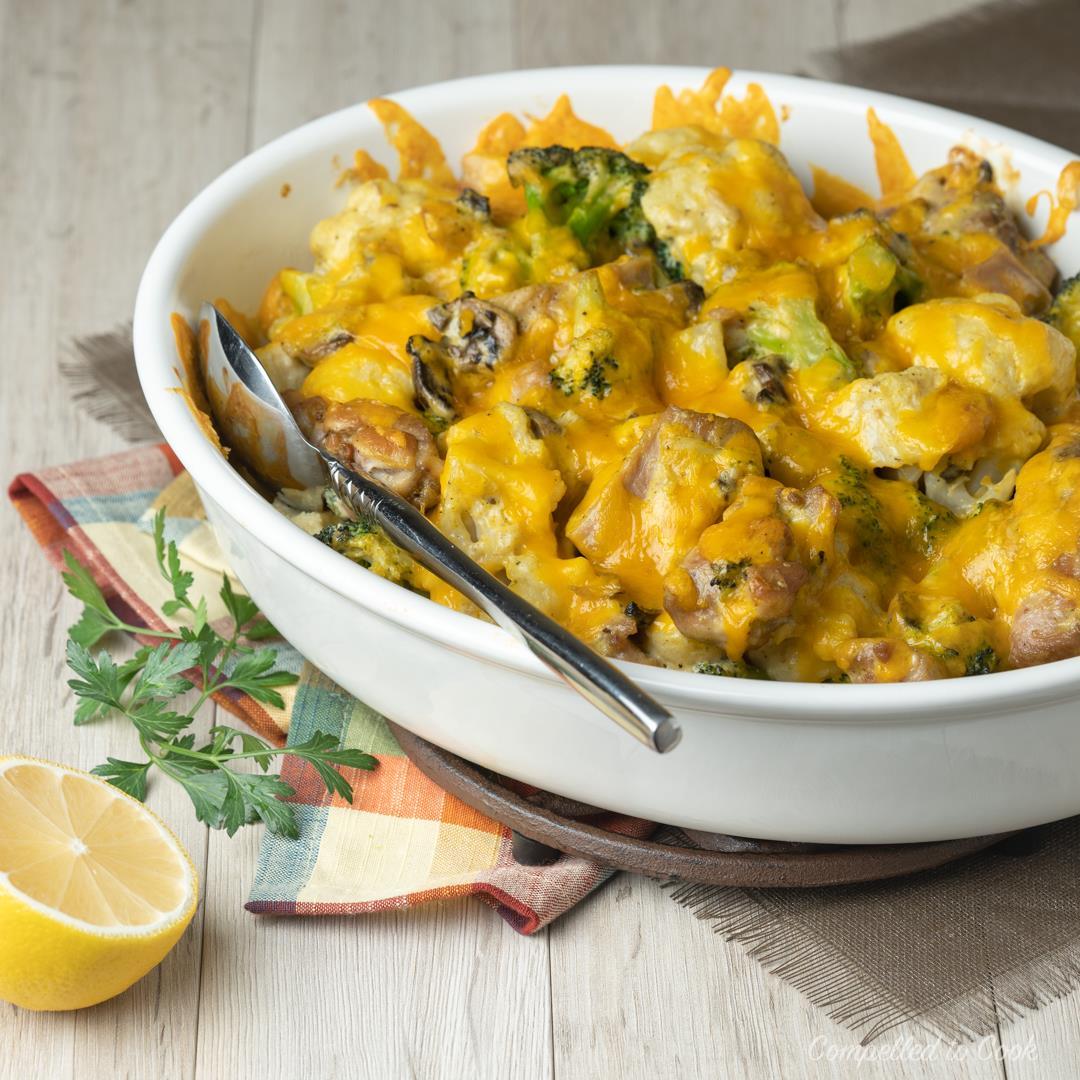 Cheesy Chicken Vegetable Casserole