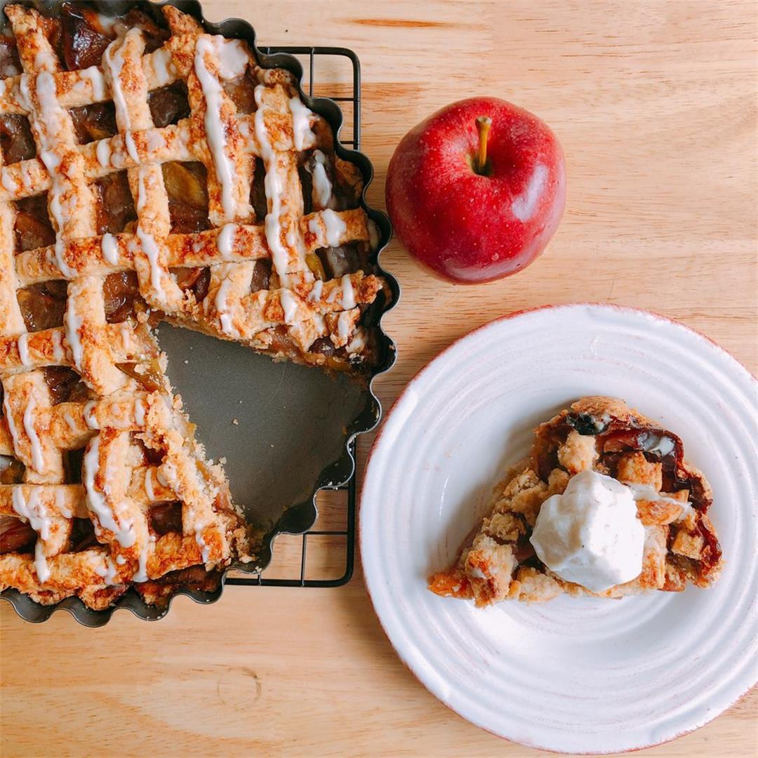 Drunken Apple Pie with Bourbon Drizzle