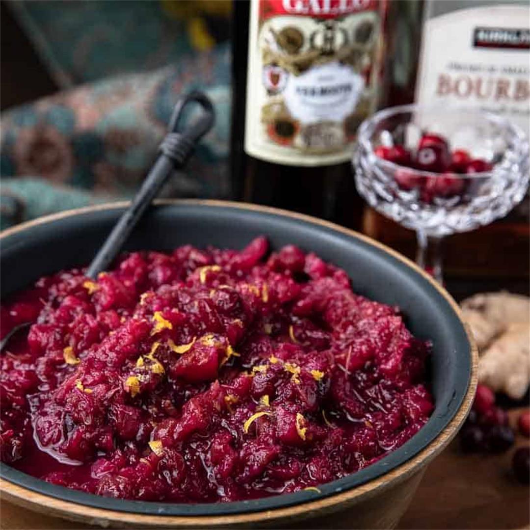 Instant Pot Manhattan Cranberry Sauce