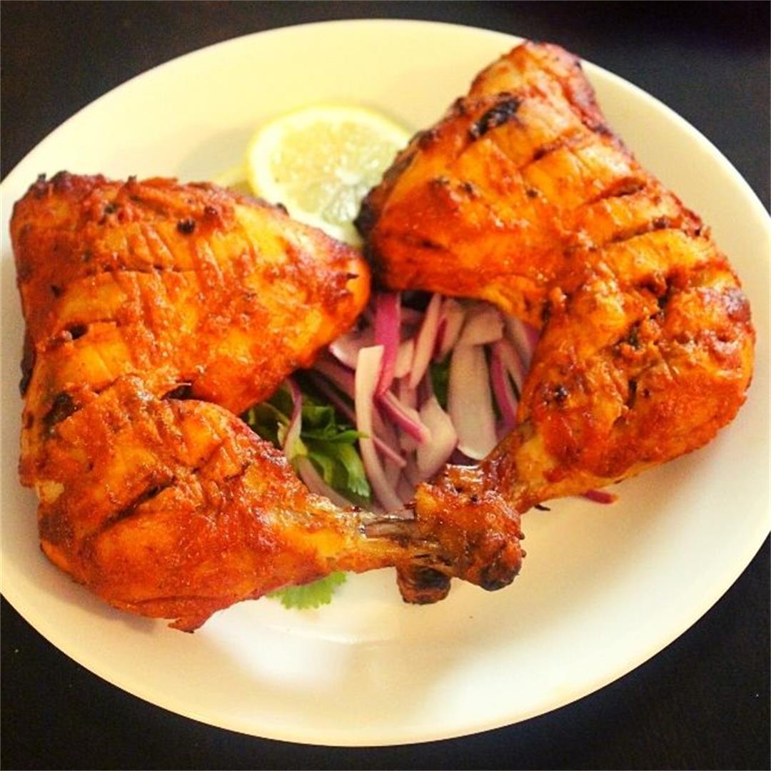 tandoori chicken in oven, indian baked chicken