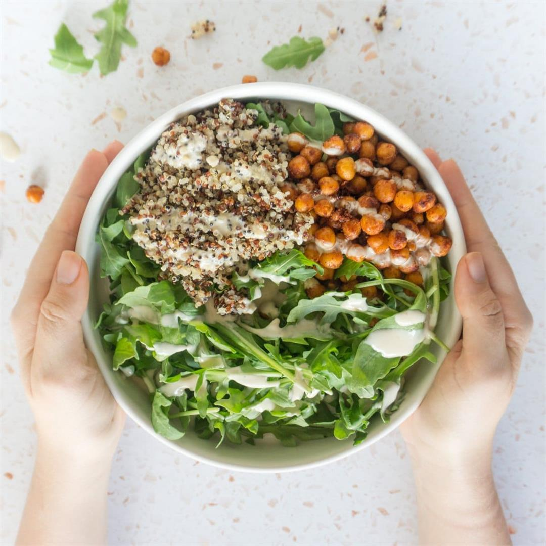 Spiced Chickpea Grain Bowls and Creamy Tahini Dressing
