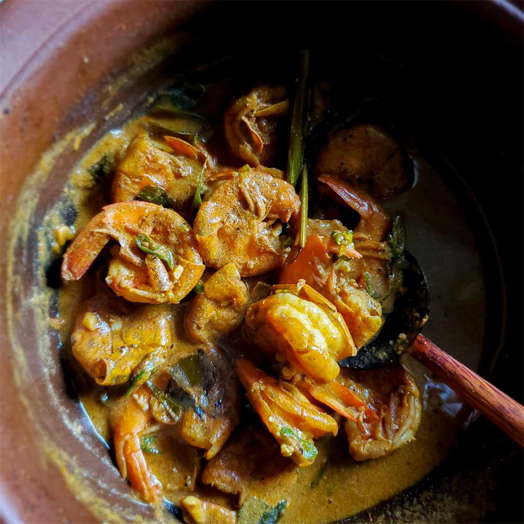 Sri Lankan Prawn/Isso Curry