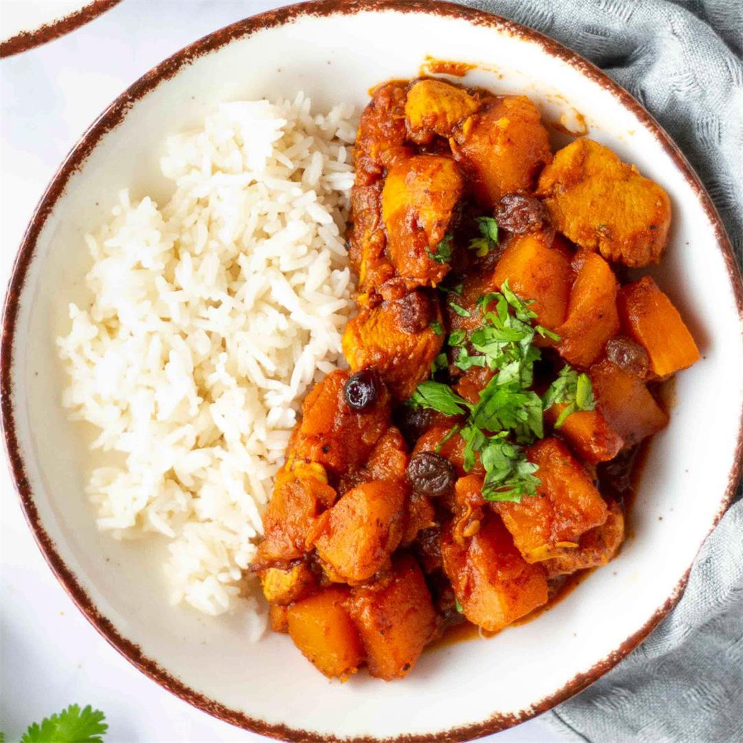 Moroccan Chicken Pumpkin Stew