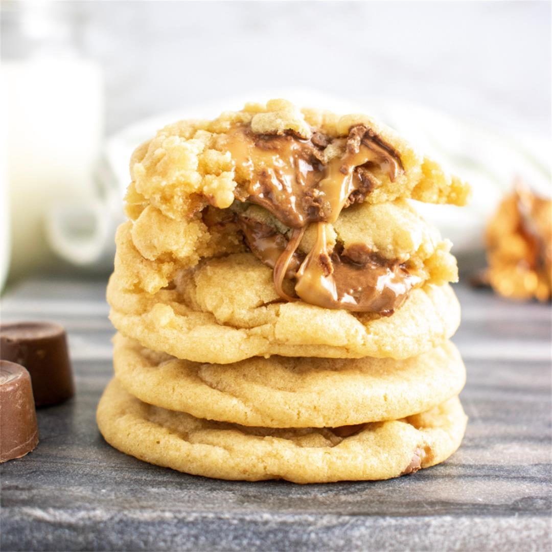 Rolo Stuffed Cookies