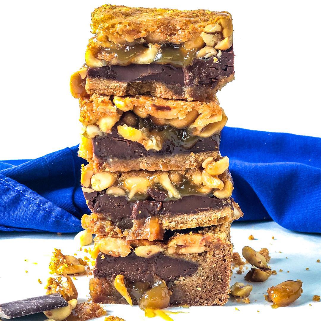 Chocolate Peanut Pie Bars