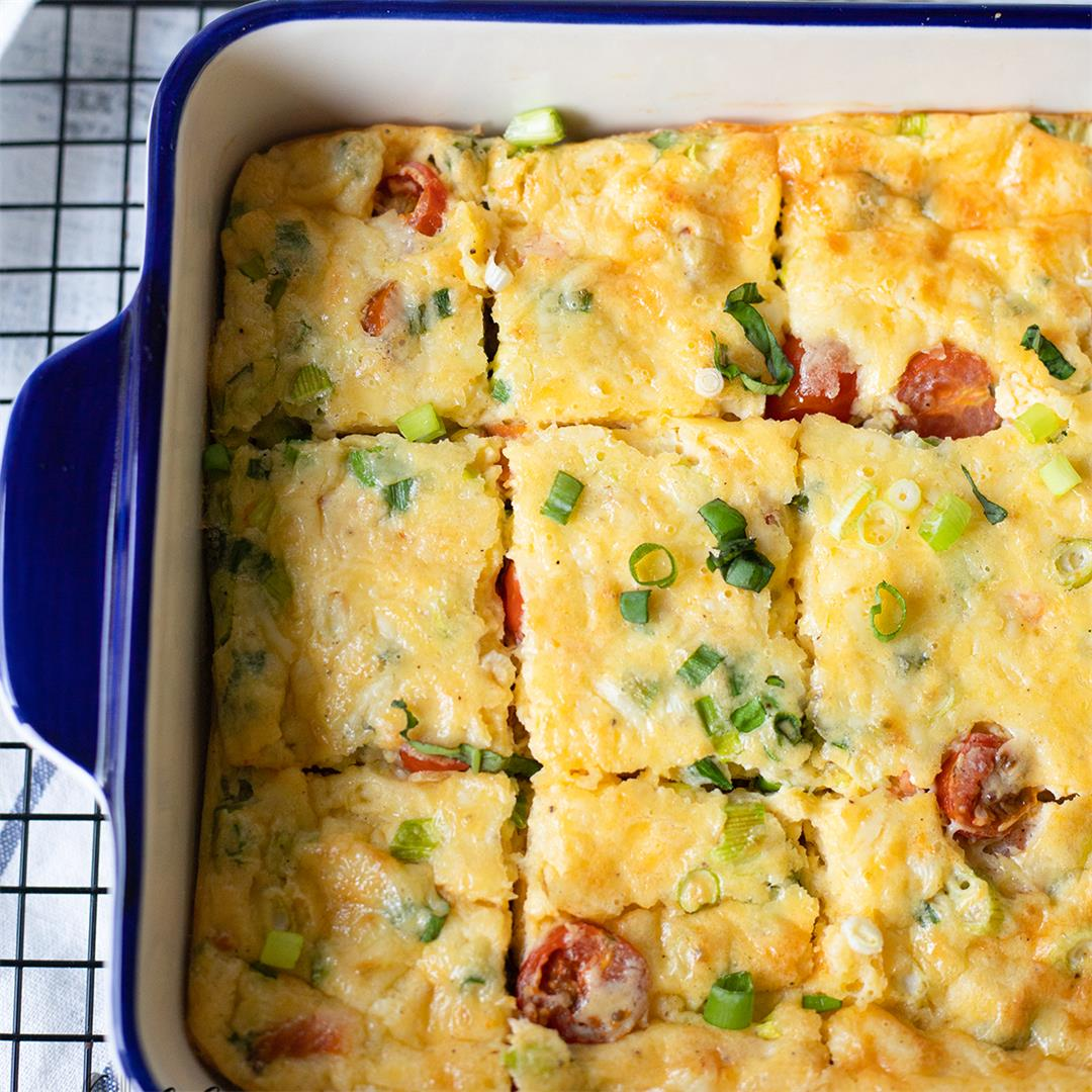 Crustless Quiche Recipe With Salmon And Eggs-Healthy Life Train
