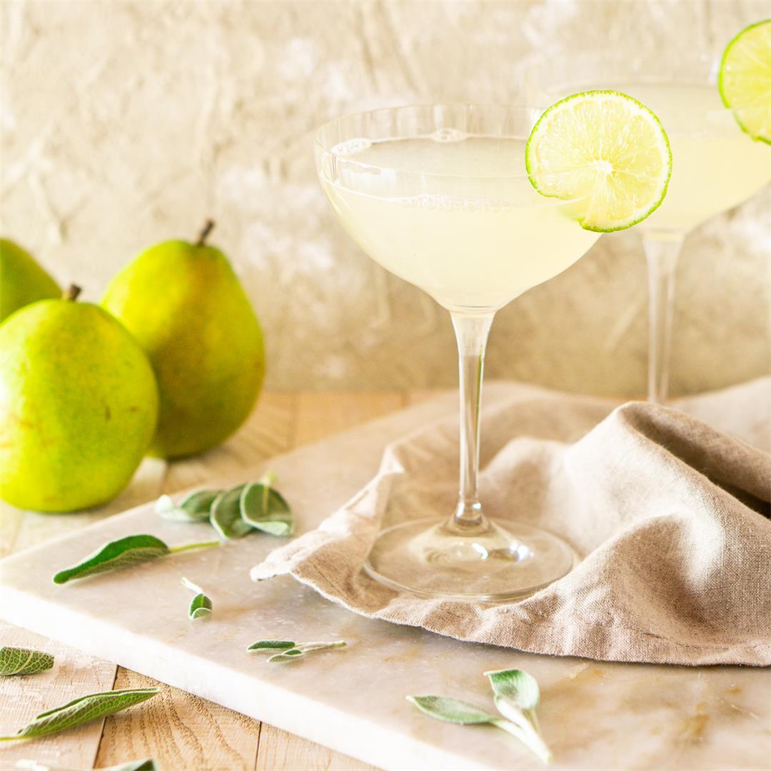 Pear-Sage Gimlet