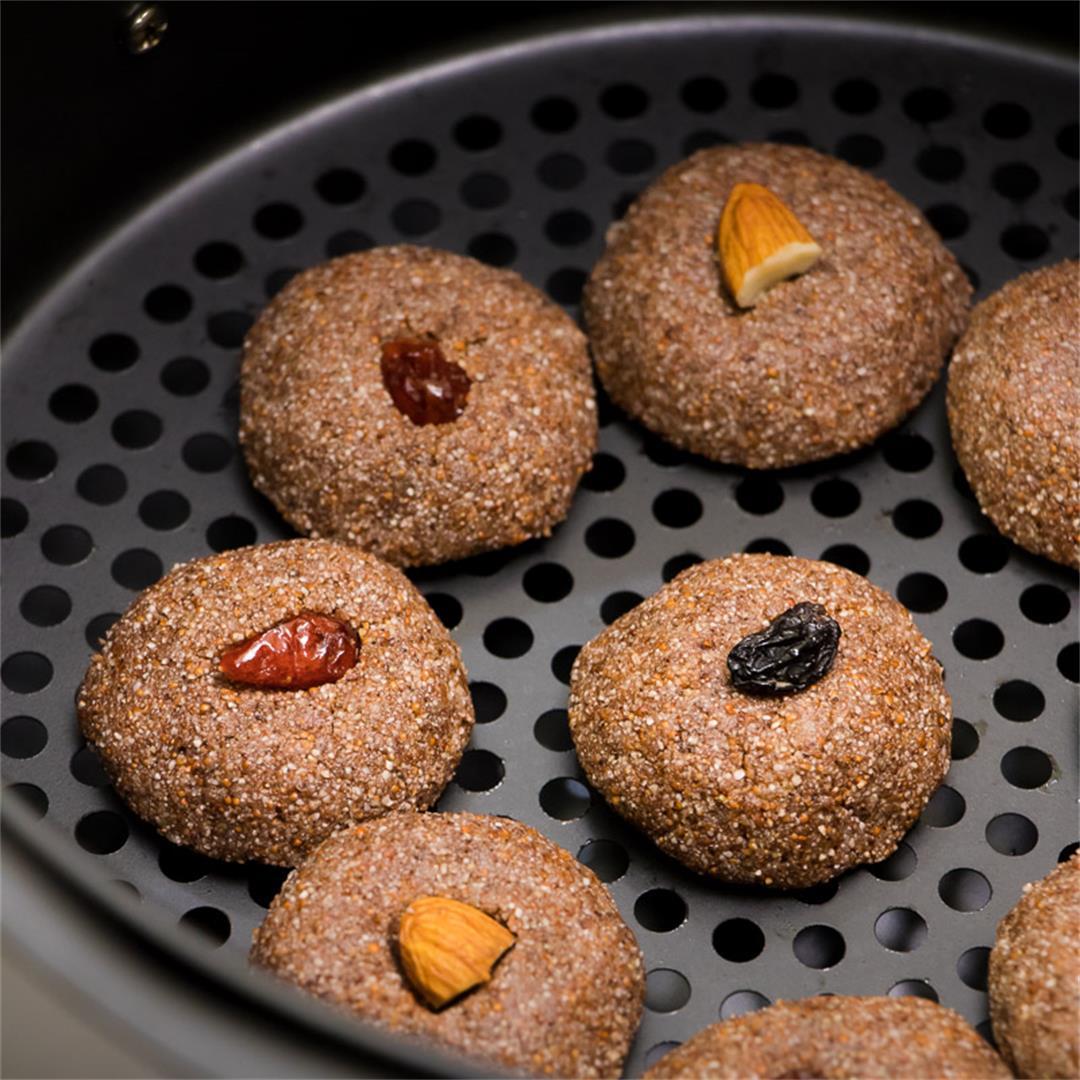 Air Fryer Millet Cookies | Vegan, Gluten-free, Oil-free, Veg|
