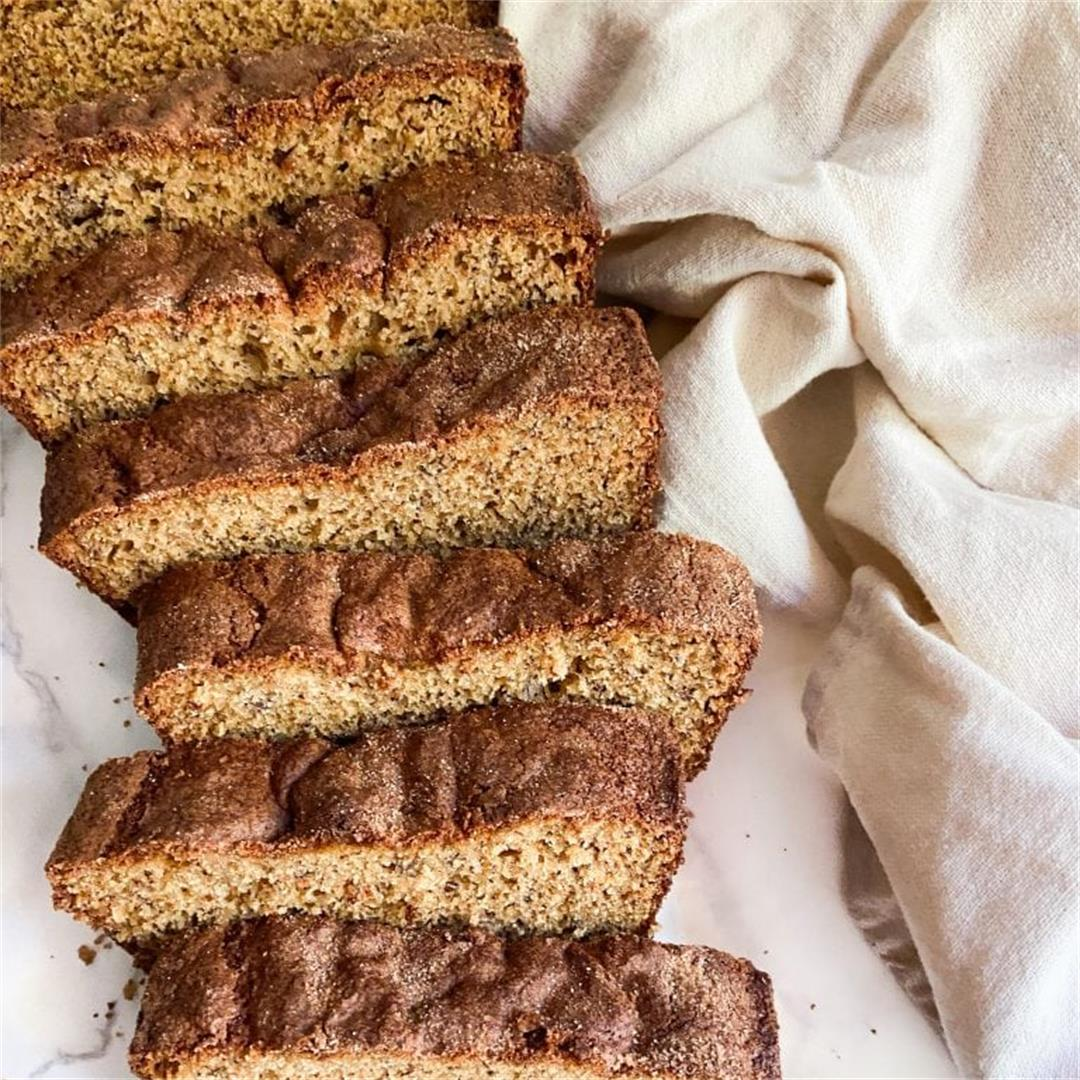 Protein Banana Bread with Cinnamon Sugar Crust – The Sugary Log