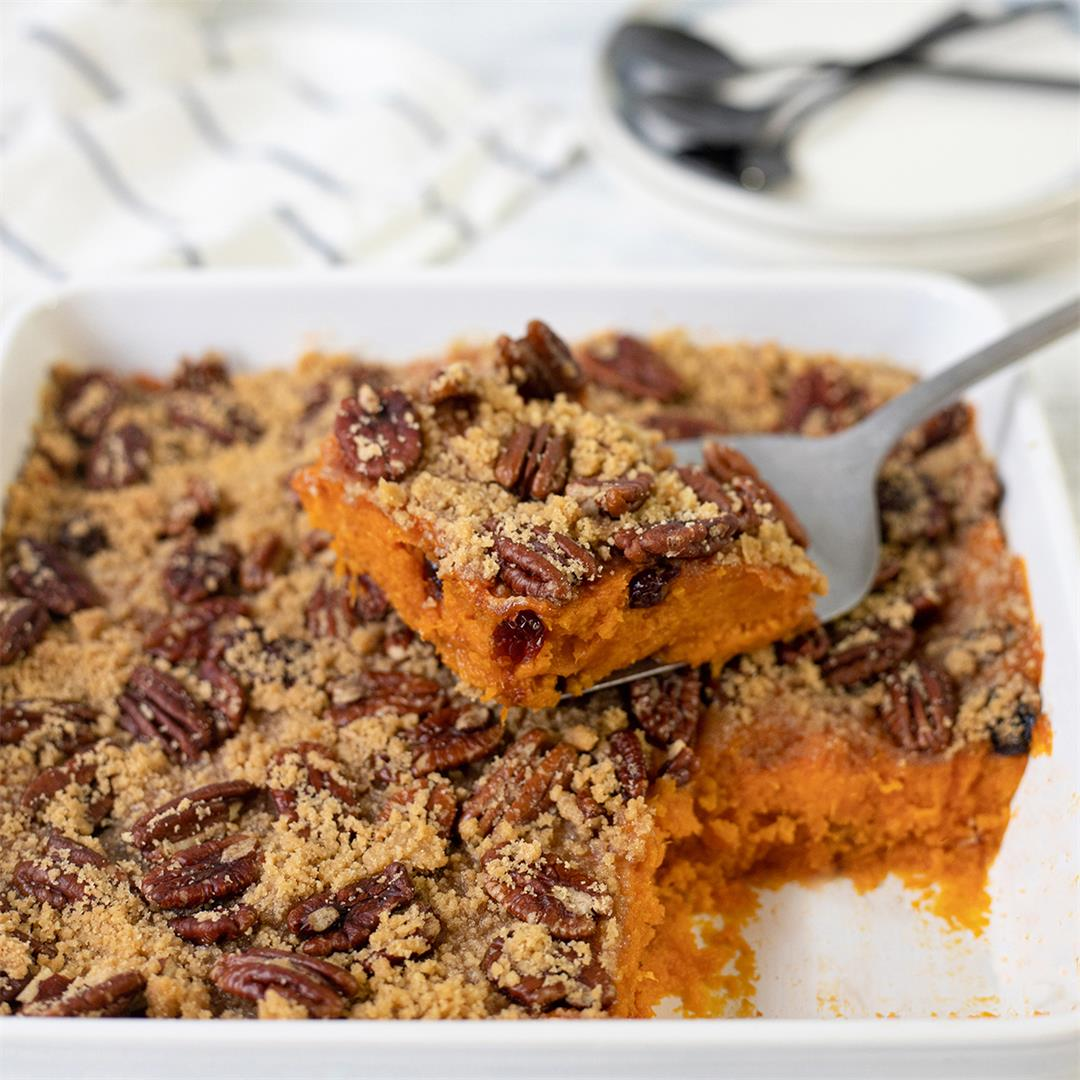 Sweet Potato Casserole with Pecans-Healthy Life Trainer