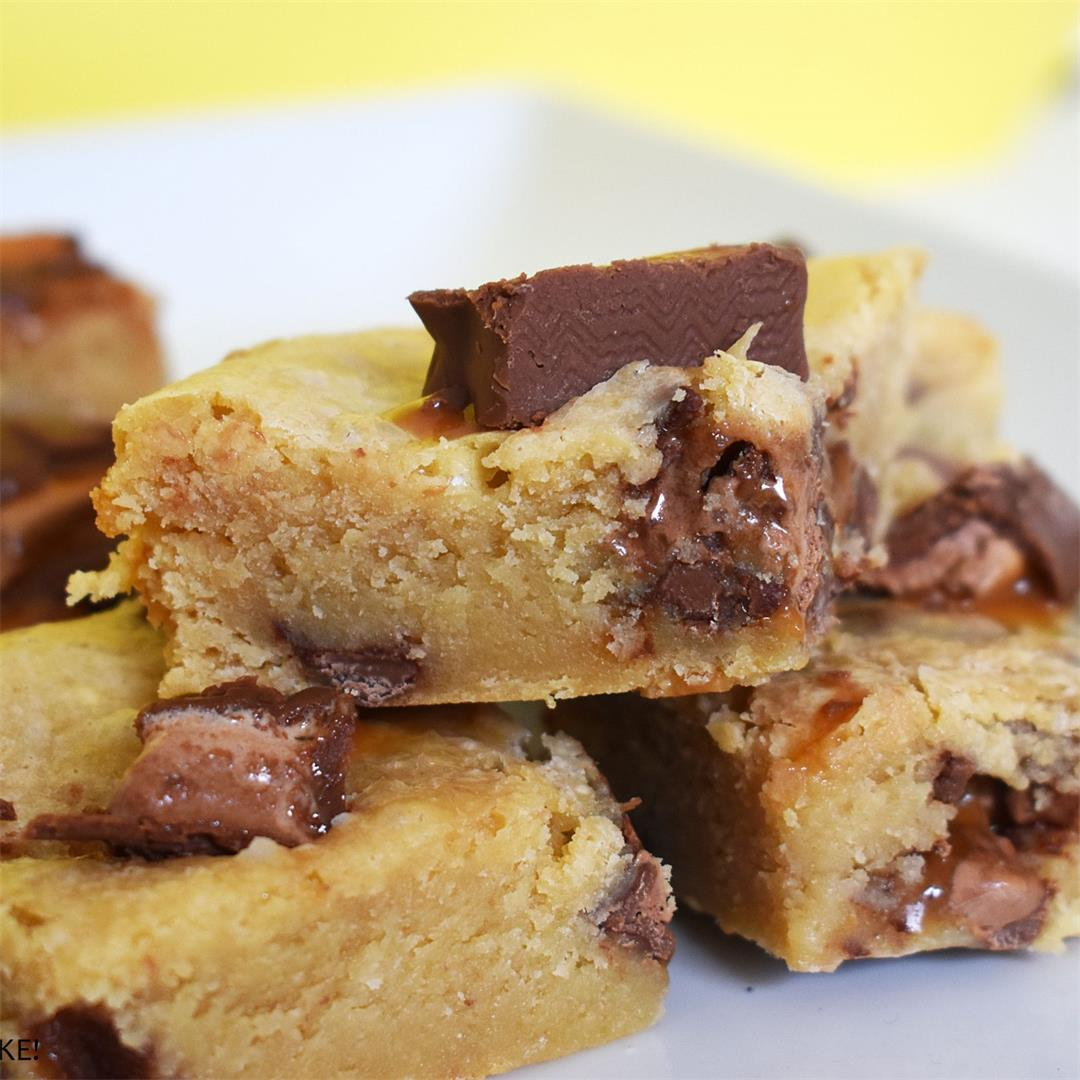 Mars Bar Condensed Milk Blondies