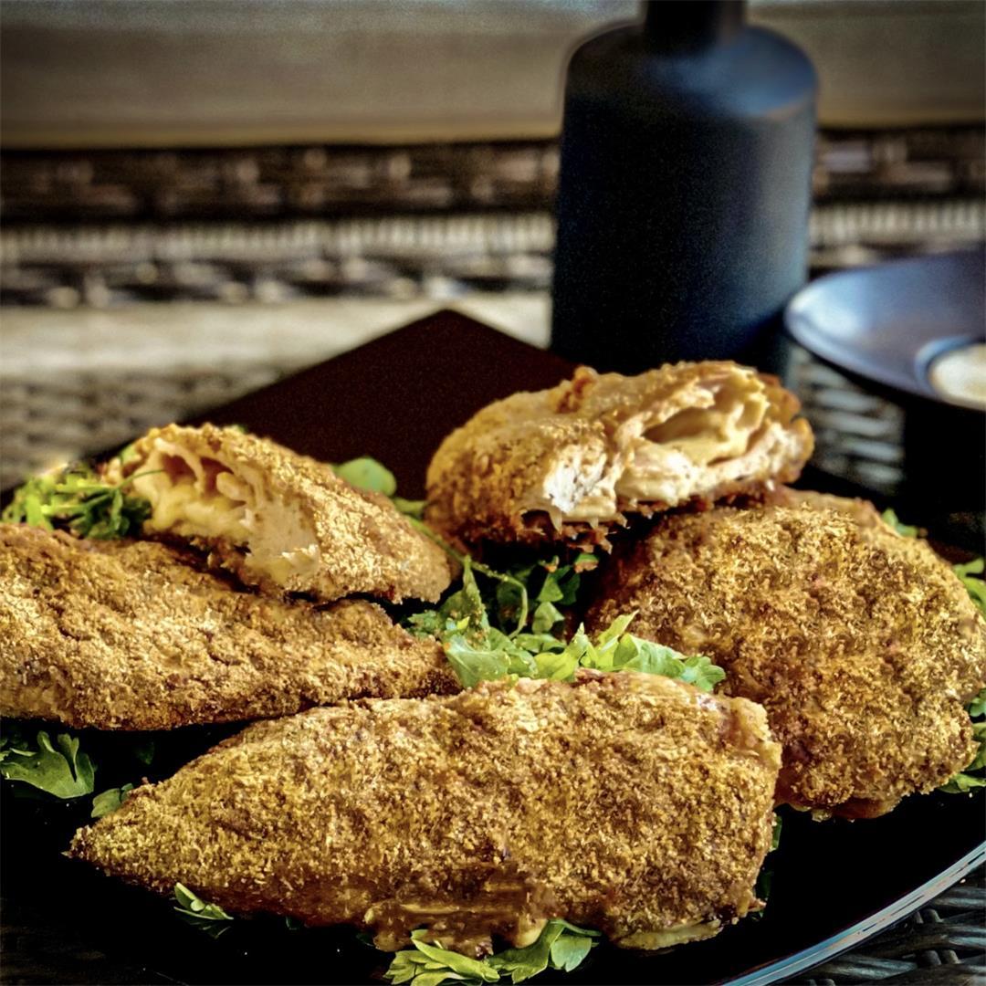 Crunchy Baked Chicken Cordon Bleu