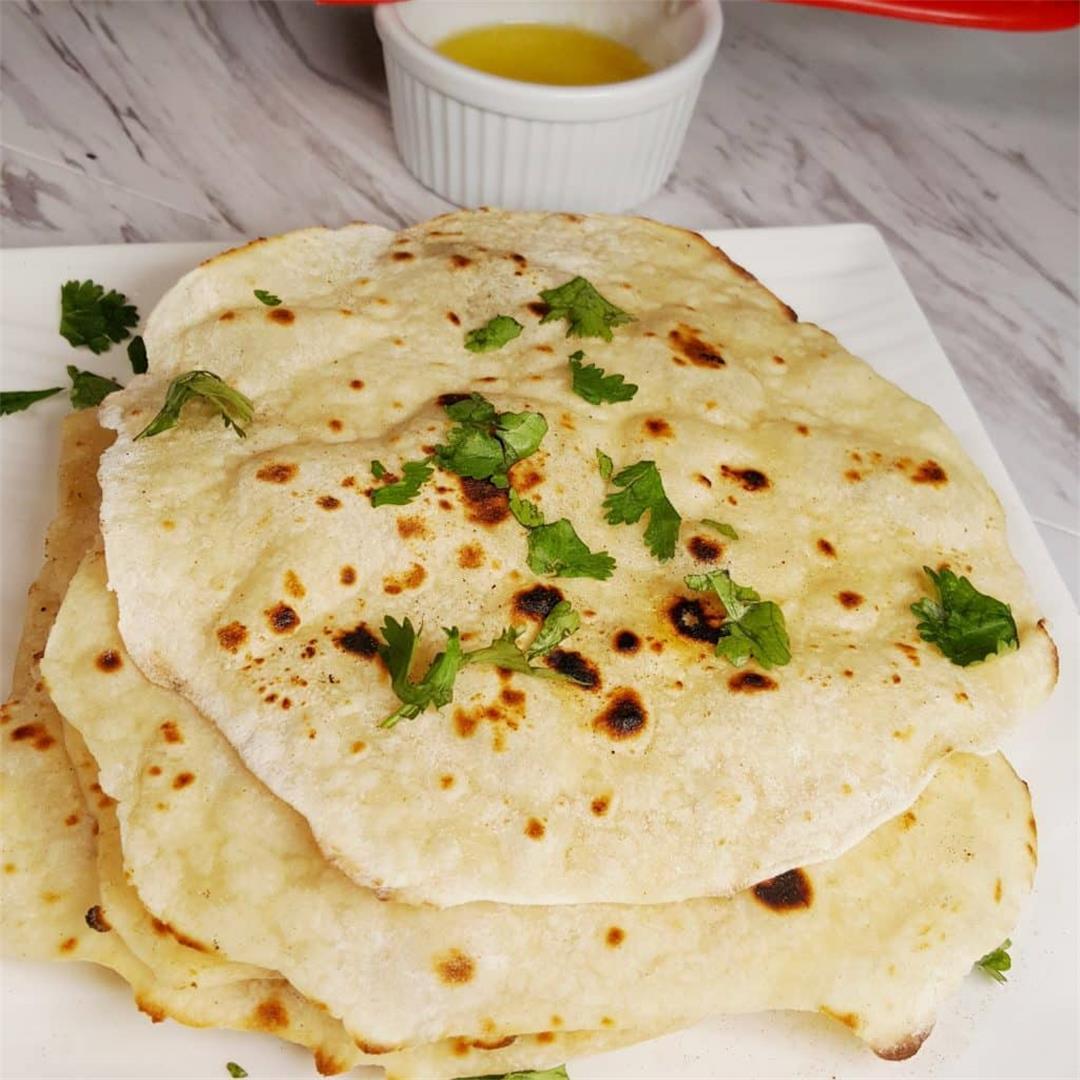 Yogurt Whey Indian Chapati/Roti {Unleavened Flatbread}
