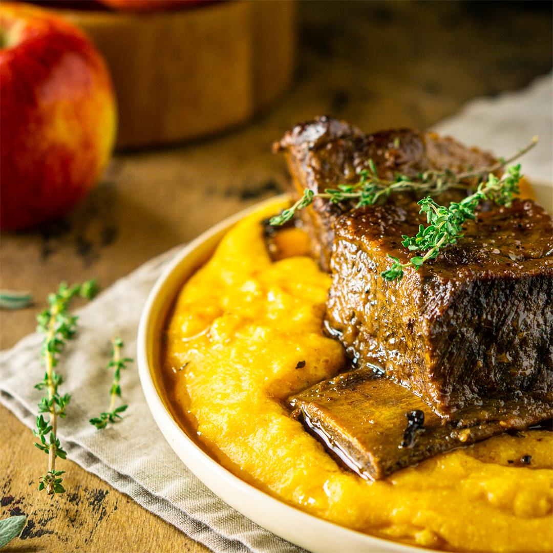 Braised Apple Cider Short Ribs