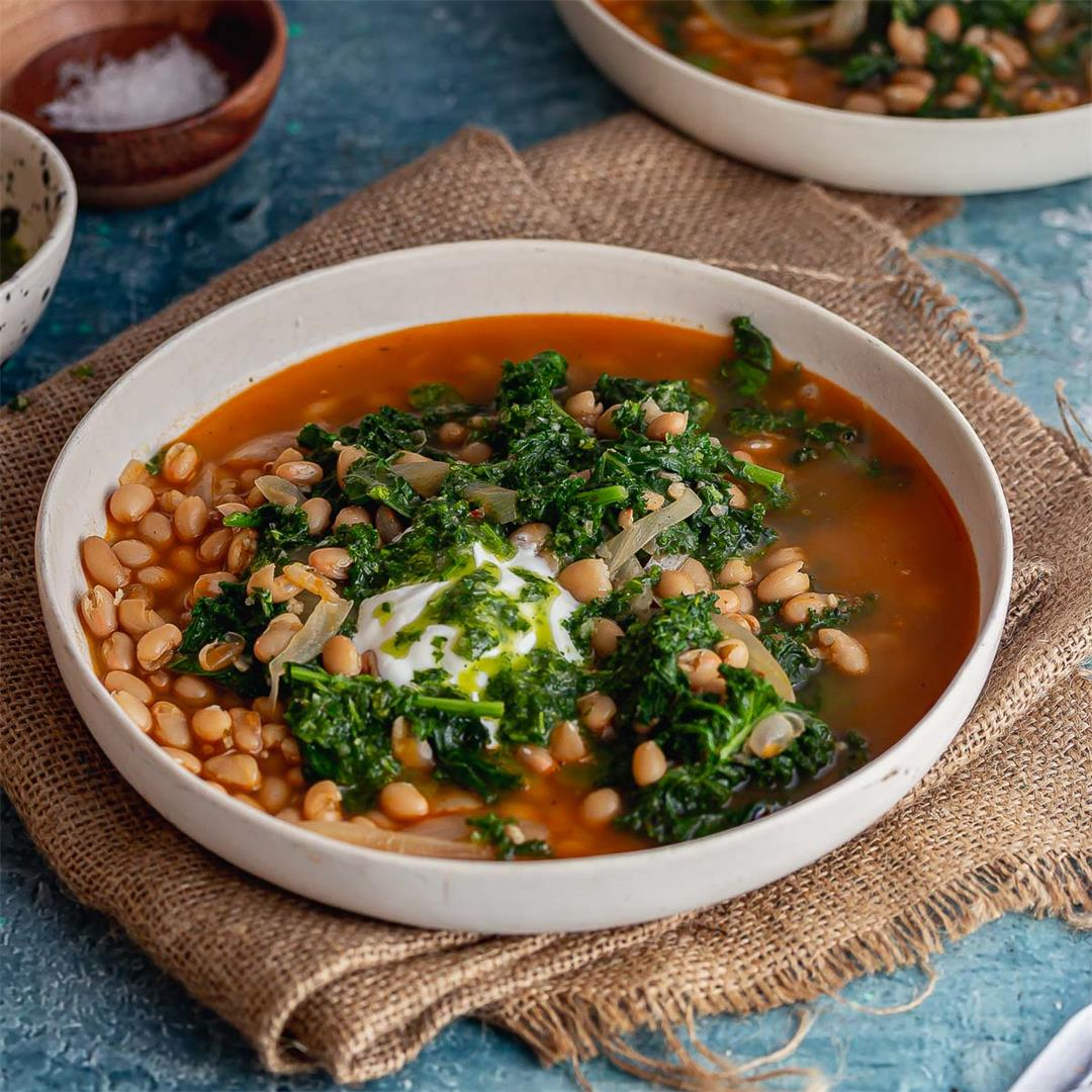 White Bean Soup with Herby Oil
