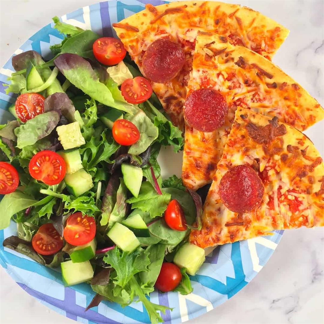 Air Fryer Frozen Pizza Recipe + Video!