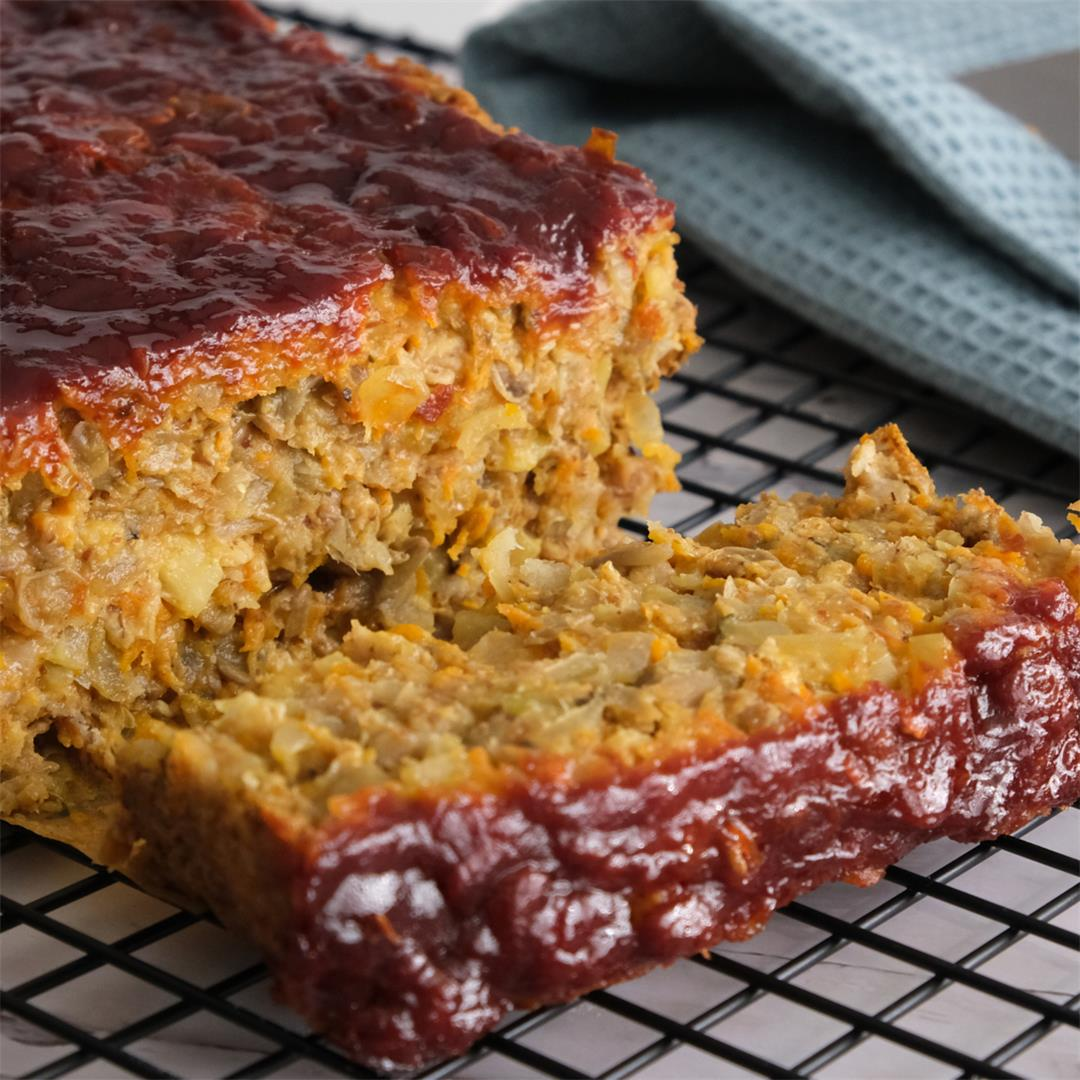 Perfect Vegan Meatloaf with Lentils and Vegetables