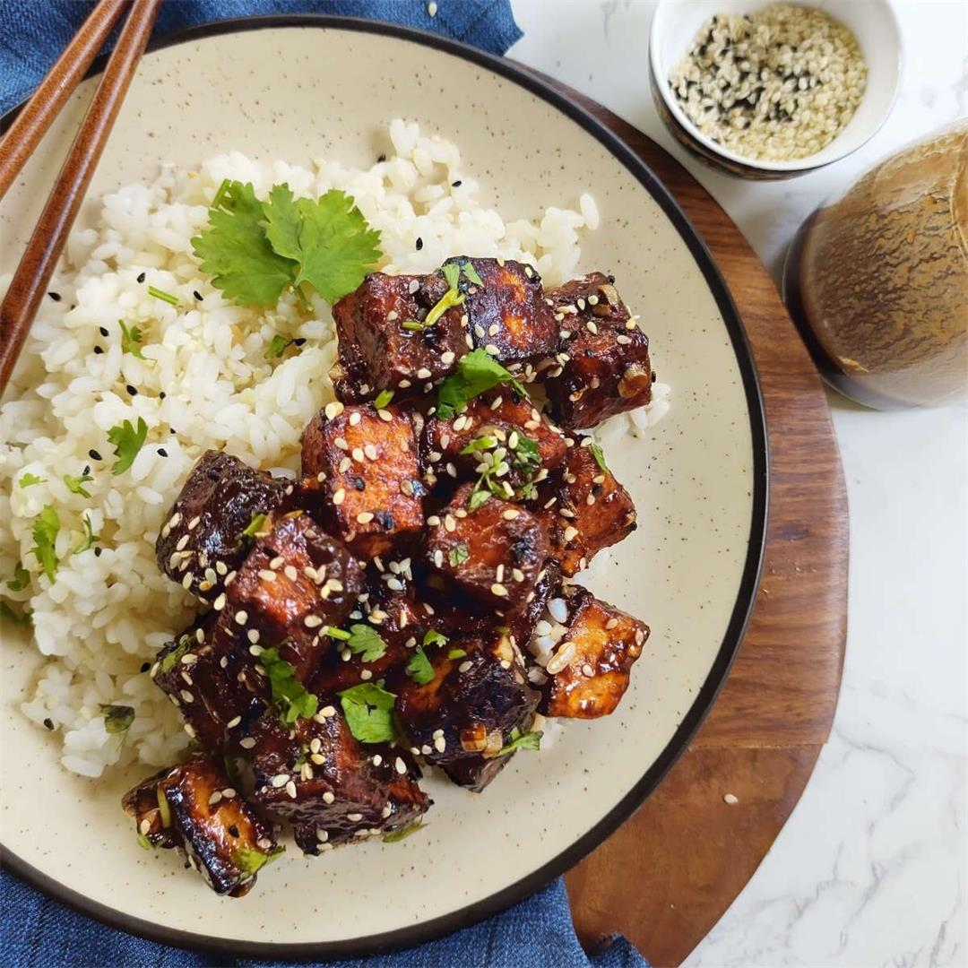 Instant Pot General Tso's Tofu with Air Fryer & Baked Tofu