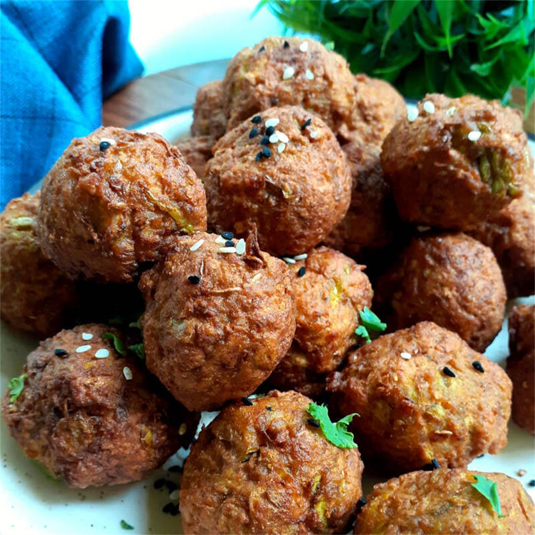 Easy Air Fryer Vegan Meatballs- Healthy, Gluten-free Recipes