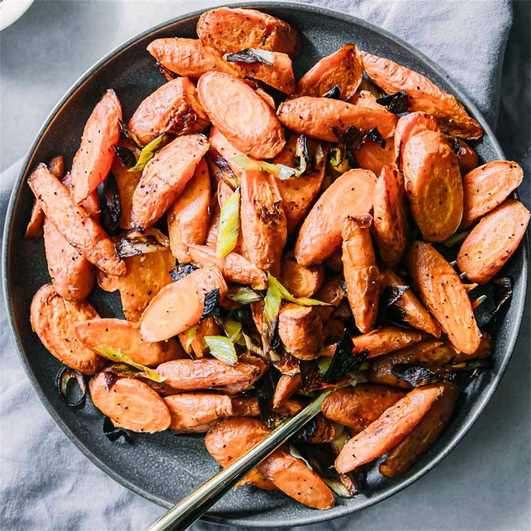 Roasted Carrots and Leeks