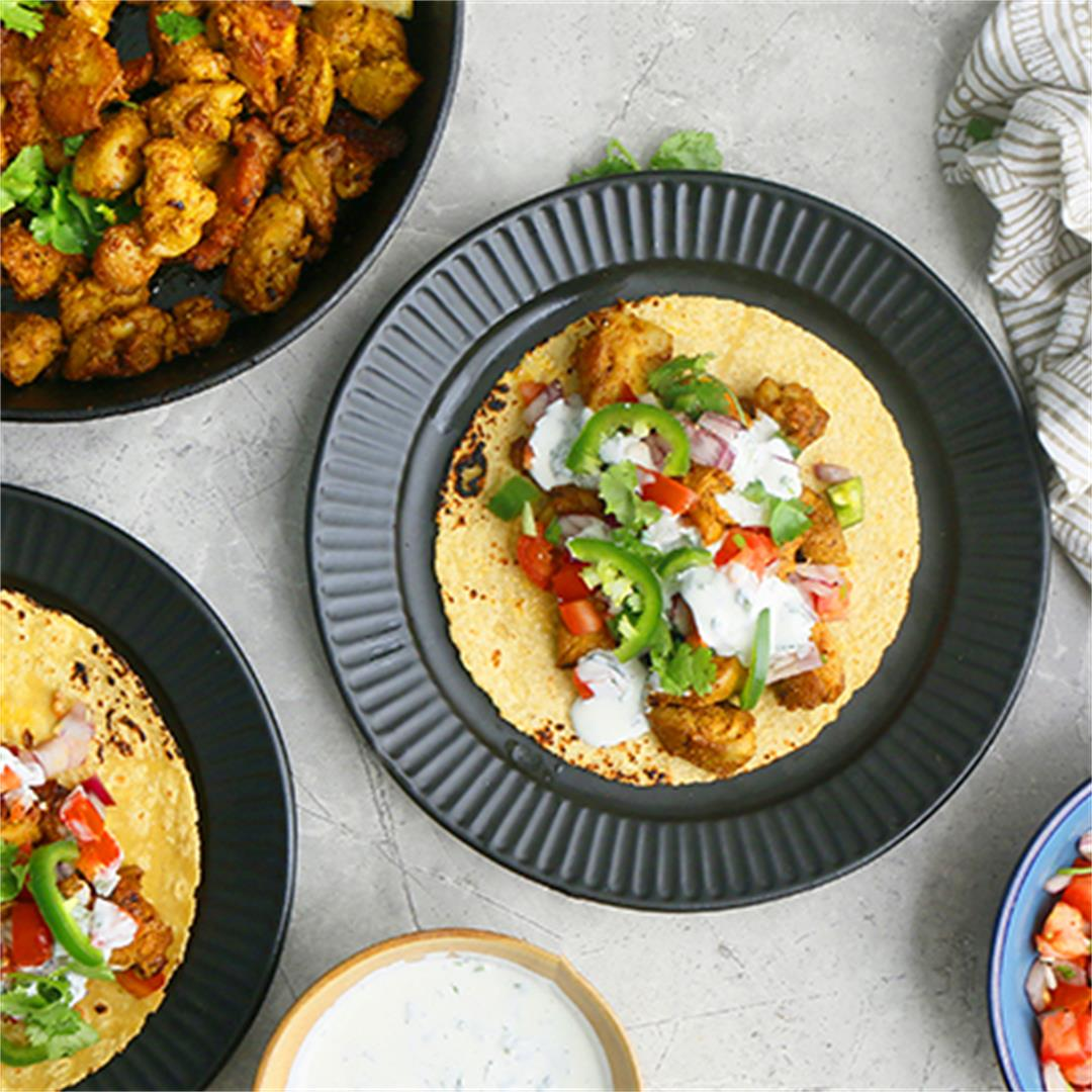 Spicy Chicken Tacos (with an Indian twist)