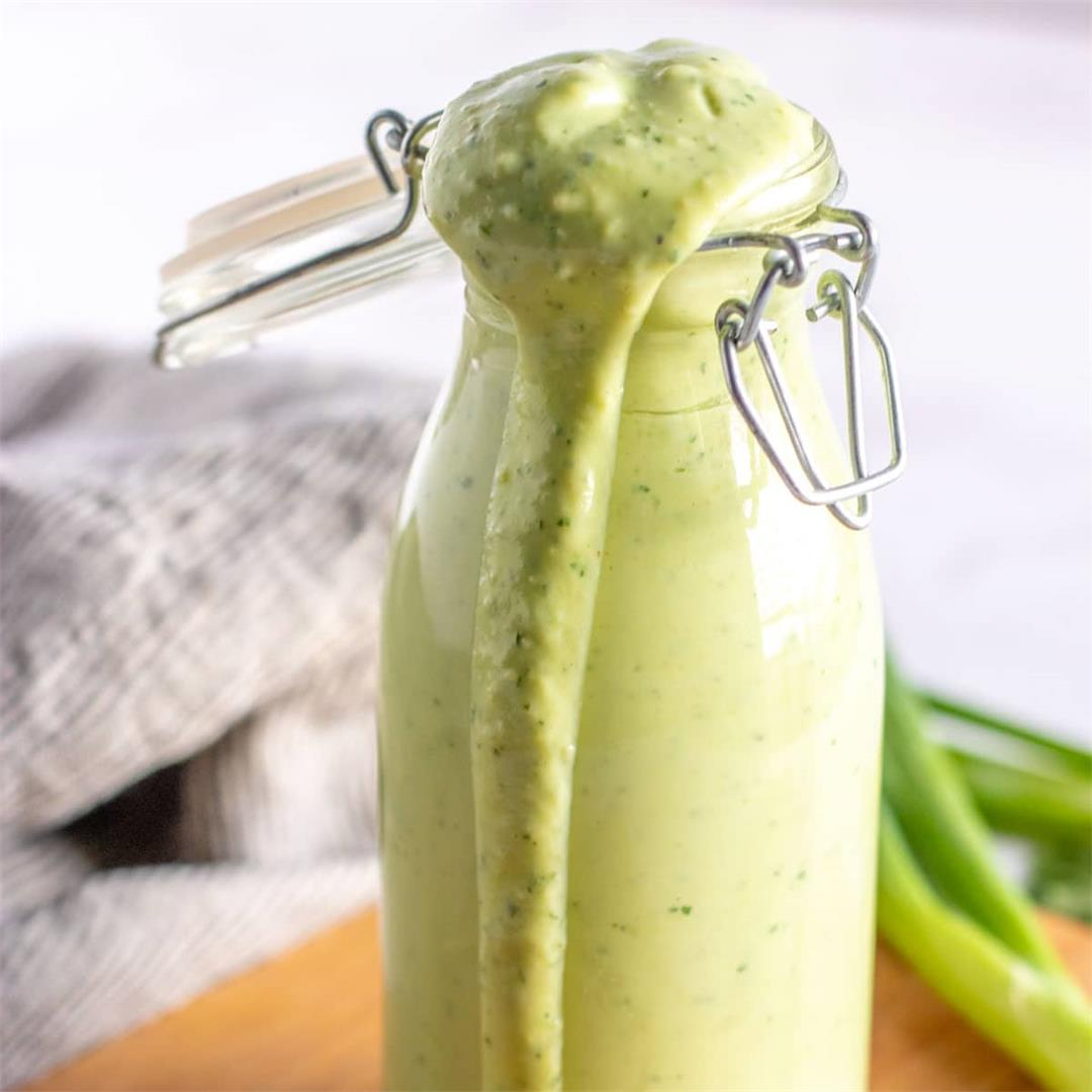 Creamy Avocado Cilantro Dressing (or dip!)