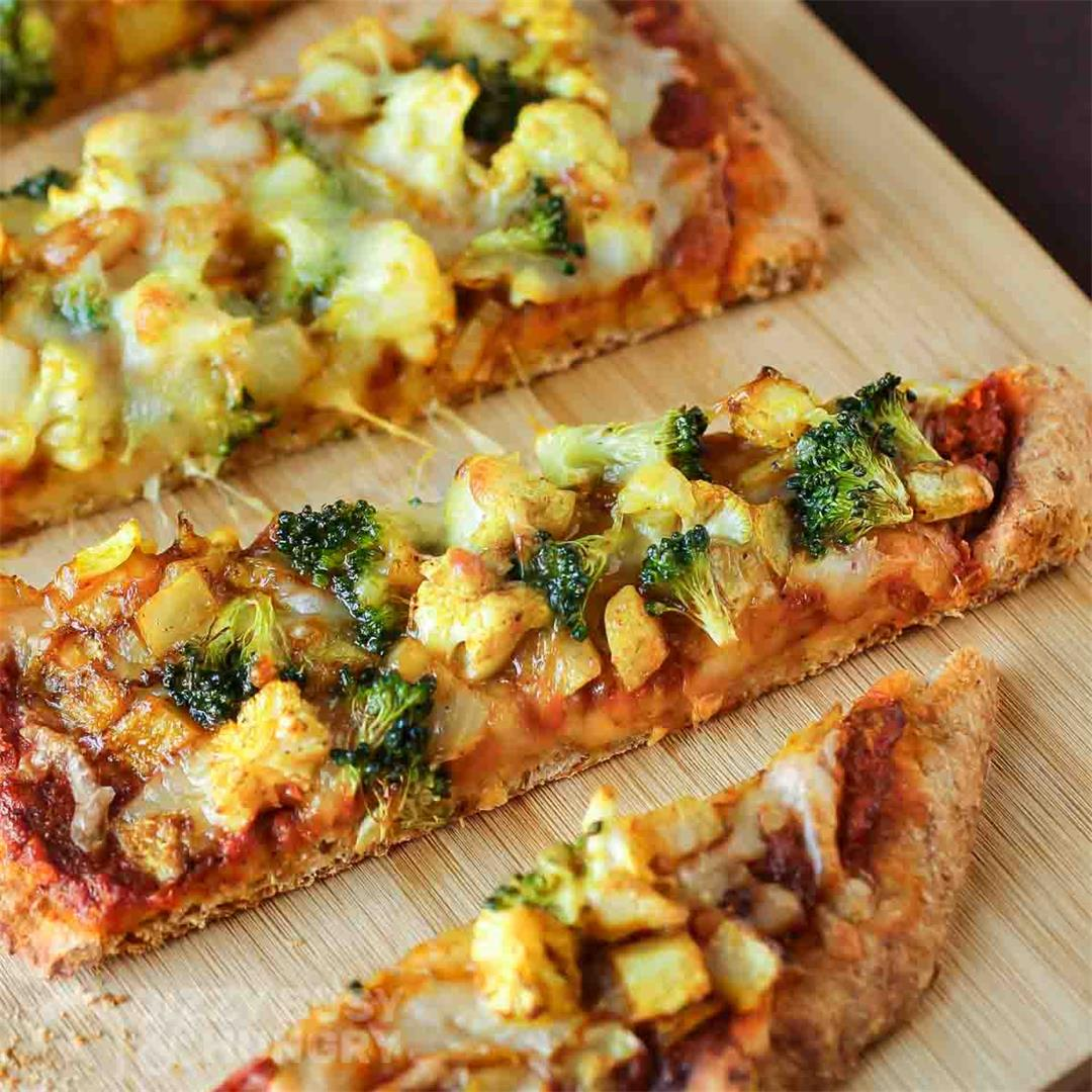 Curry Pizza with Veggies